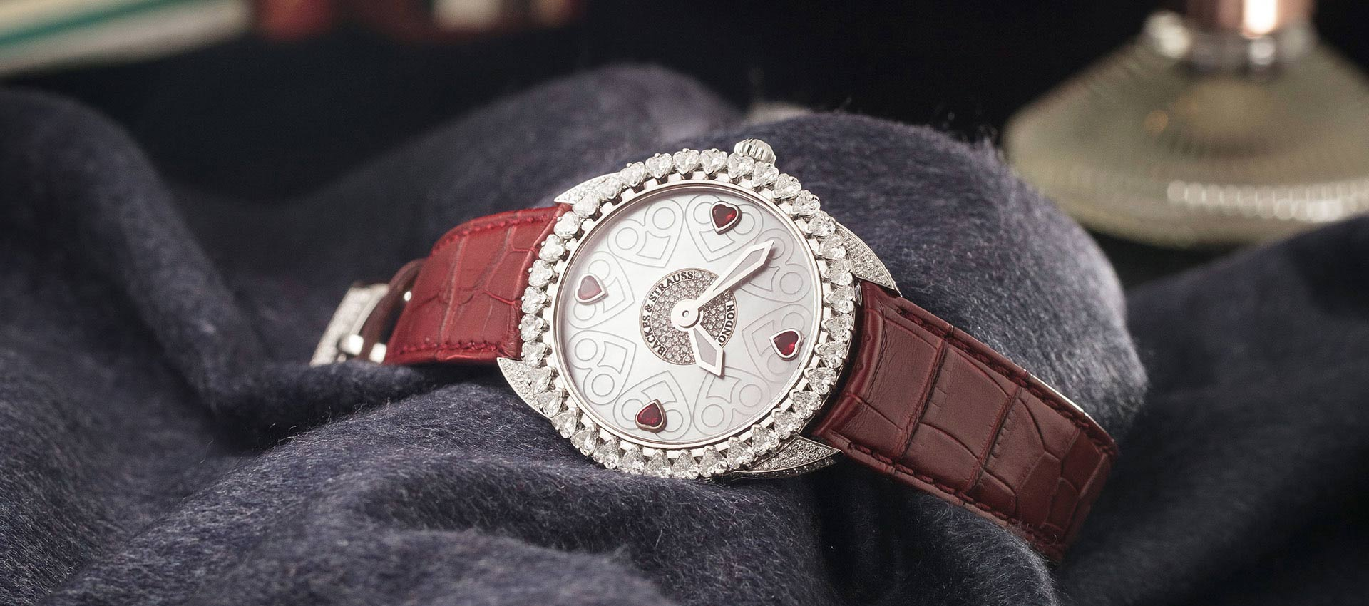 Piccadilly Renaissance diamond heart unique watch for her