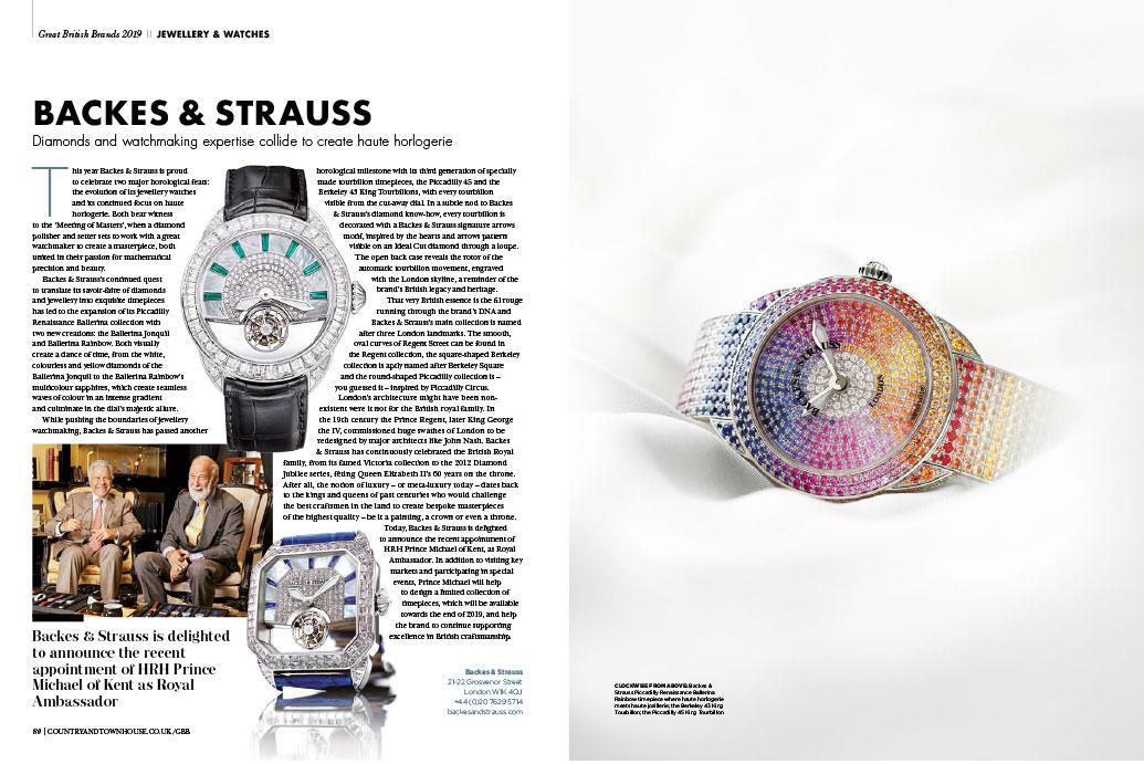 Backes & Strauss luxury watch house featured in Great British Brand