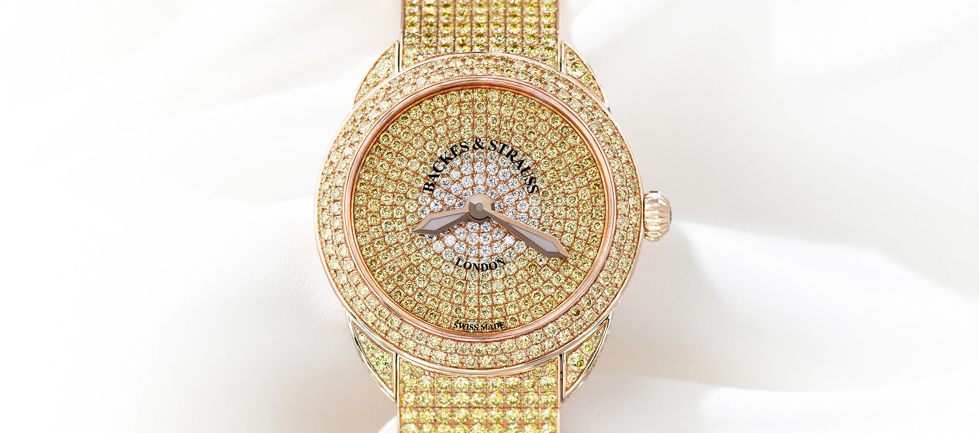 Piccadilly Renaissance Ballerina Jonquil 33 diamond encrusted watch for ladies