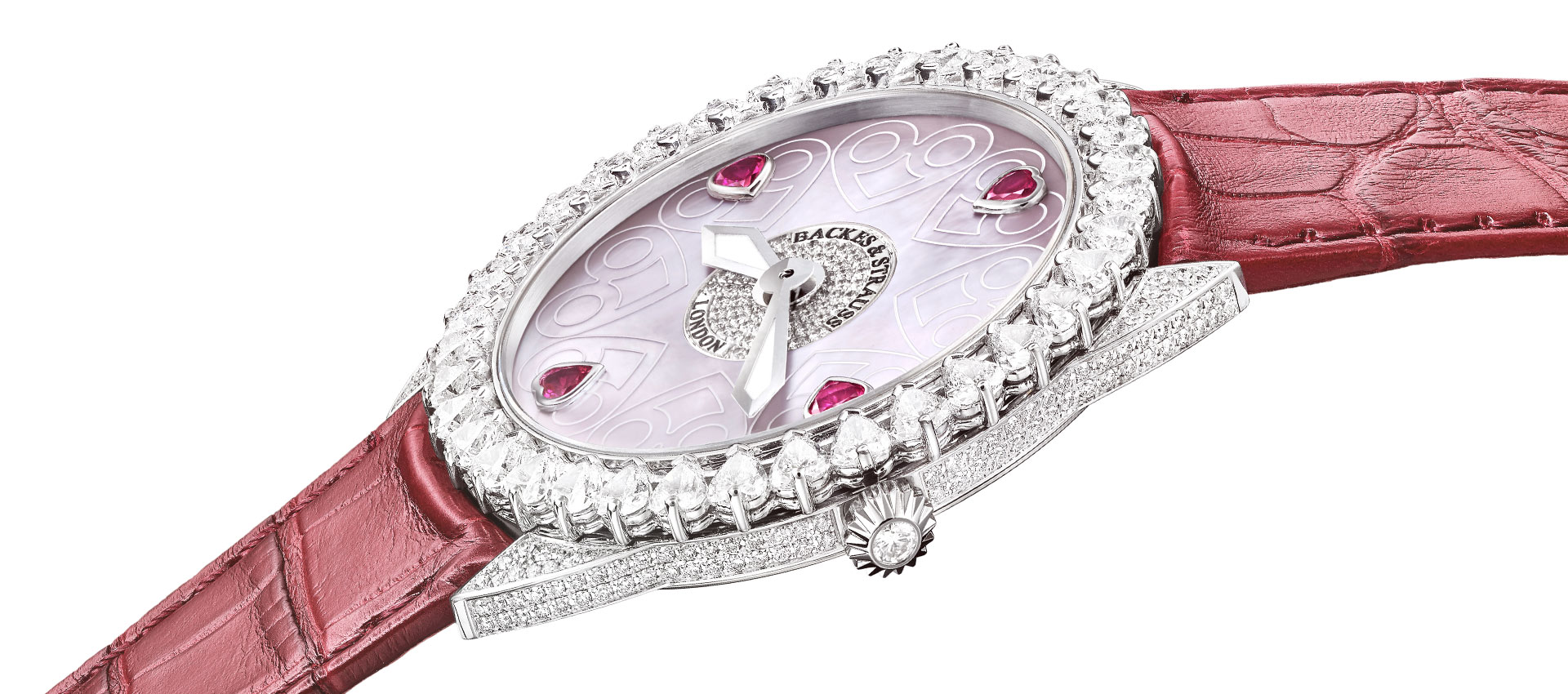 Piccadilly Renaissance diamond heart watch for ladies
