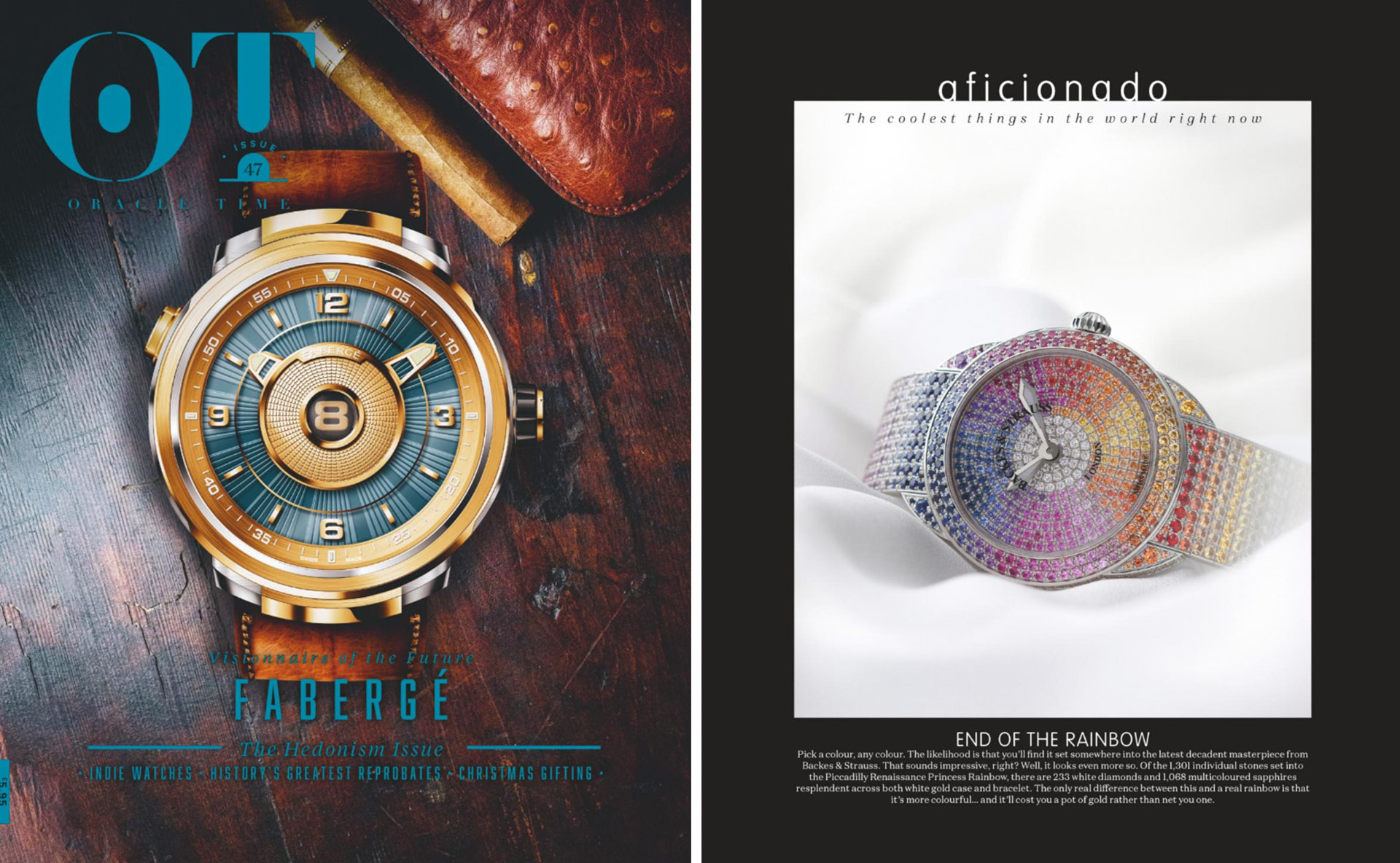 Piccadilly Renaissance Ballerina diamond watch featured in Oracle Times