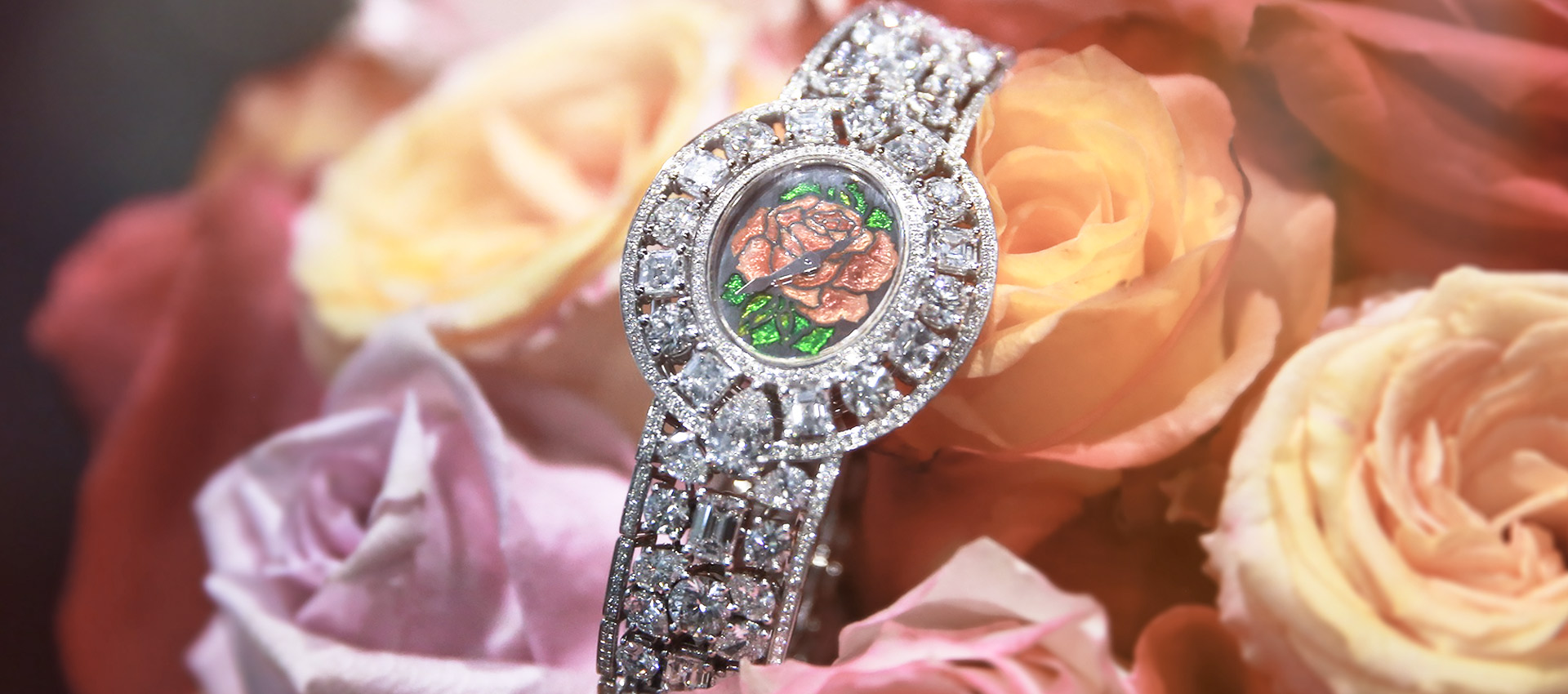 Empress Rose diamond encrusted watch for ladies