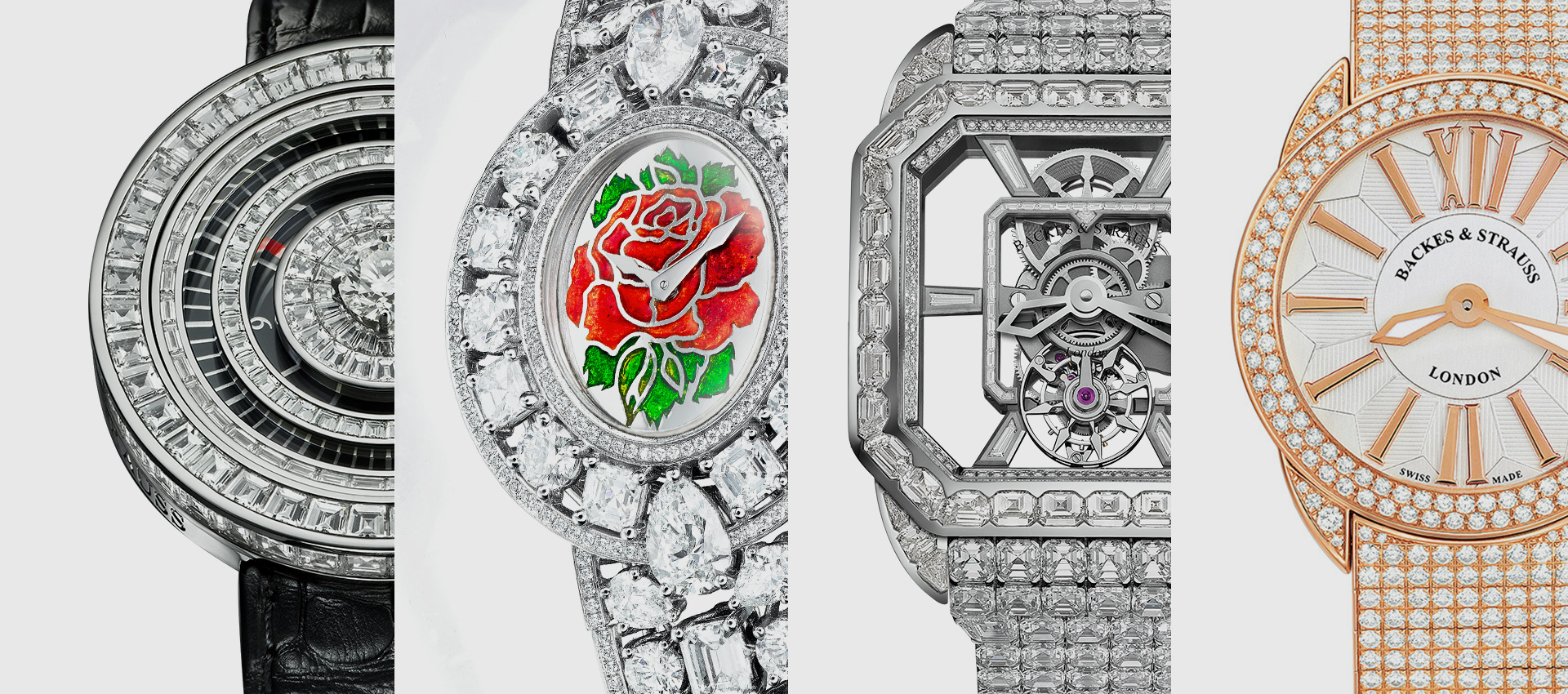 Backes & Strauss diamond bespoke watches for ladies and men
