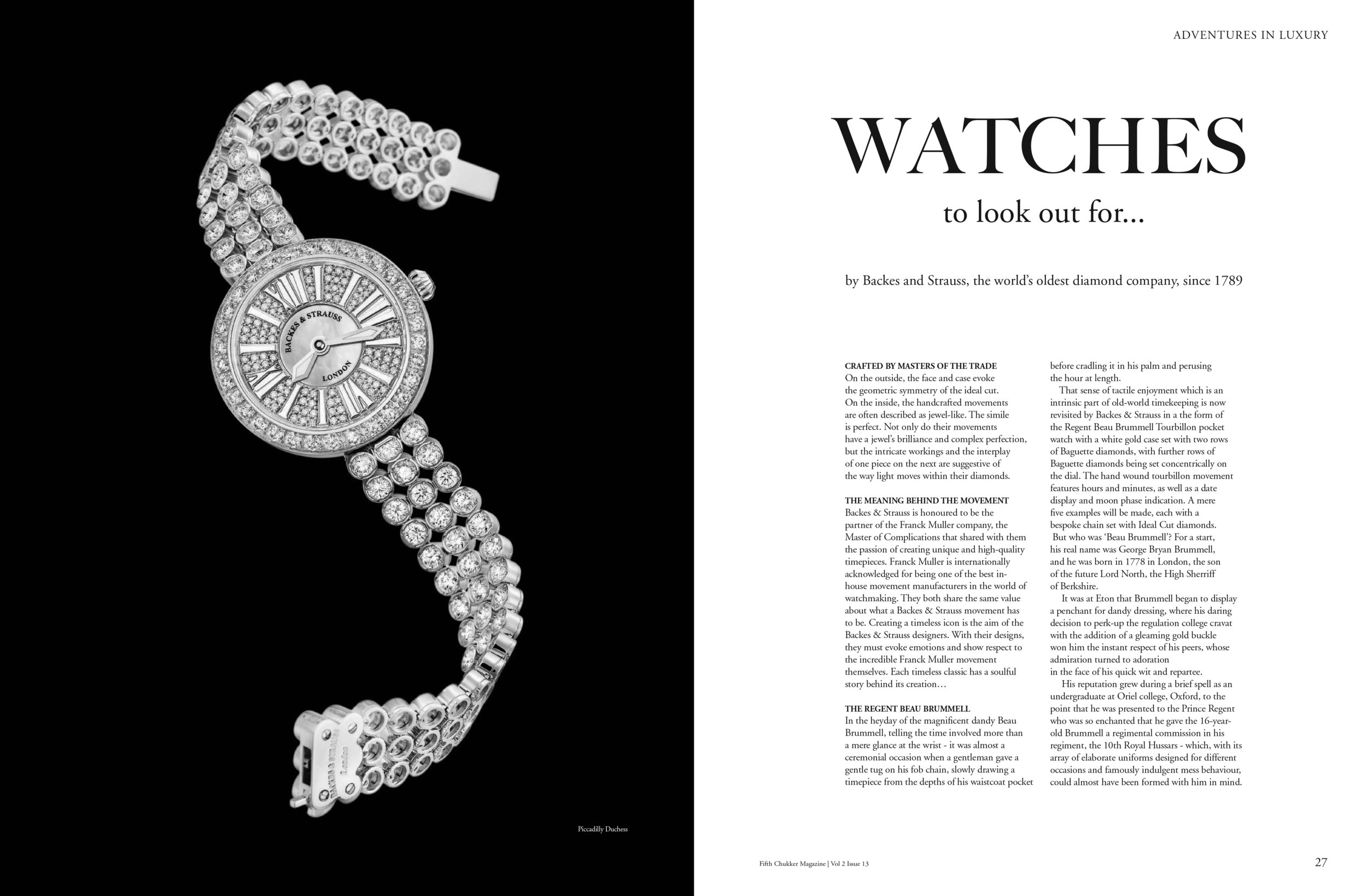 Piccadilly Duchess diamond watch for her