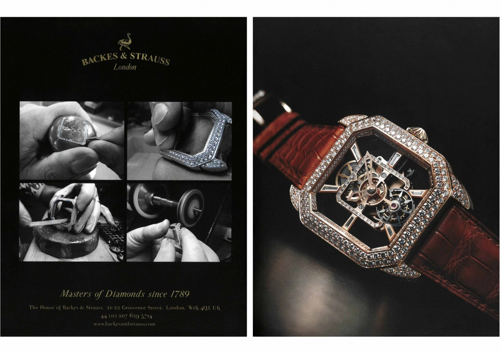 Backes & Strauss real diamond watches for ladies and men