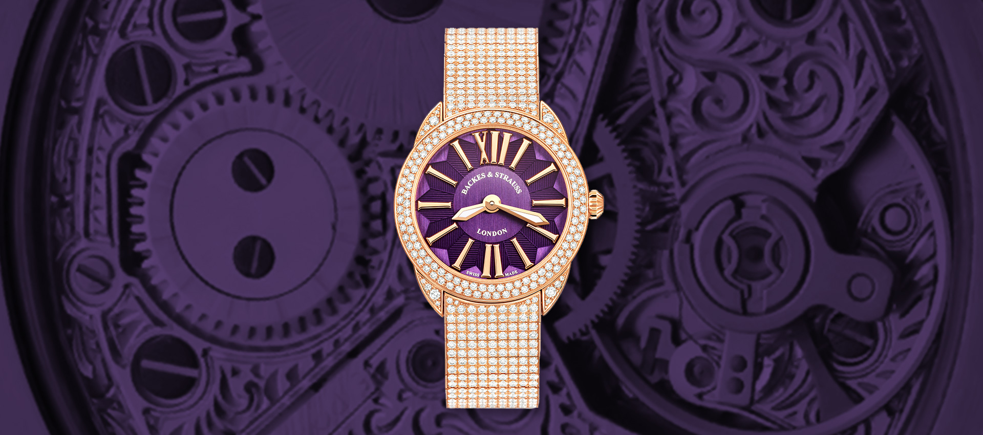 Piccadilly Renaissance Ballerina diamond wristwatch for ladies