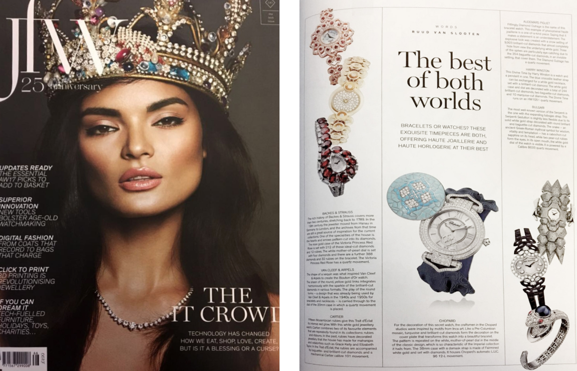 Victoria Princess diamond watch for her featured in JFW