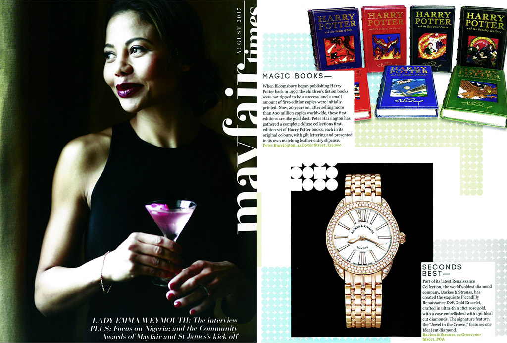 Piccadilly Renaissance Swiss made watch featured in Mayfair times