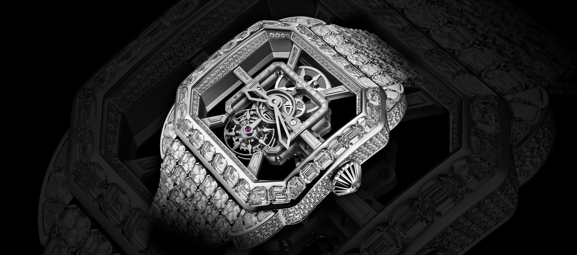 Royal Berkeley Emperor Tourbillon 45 diamond encrusted watch