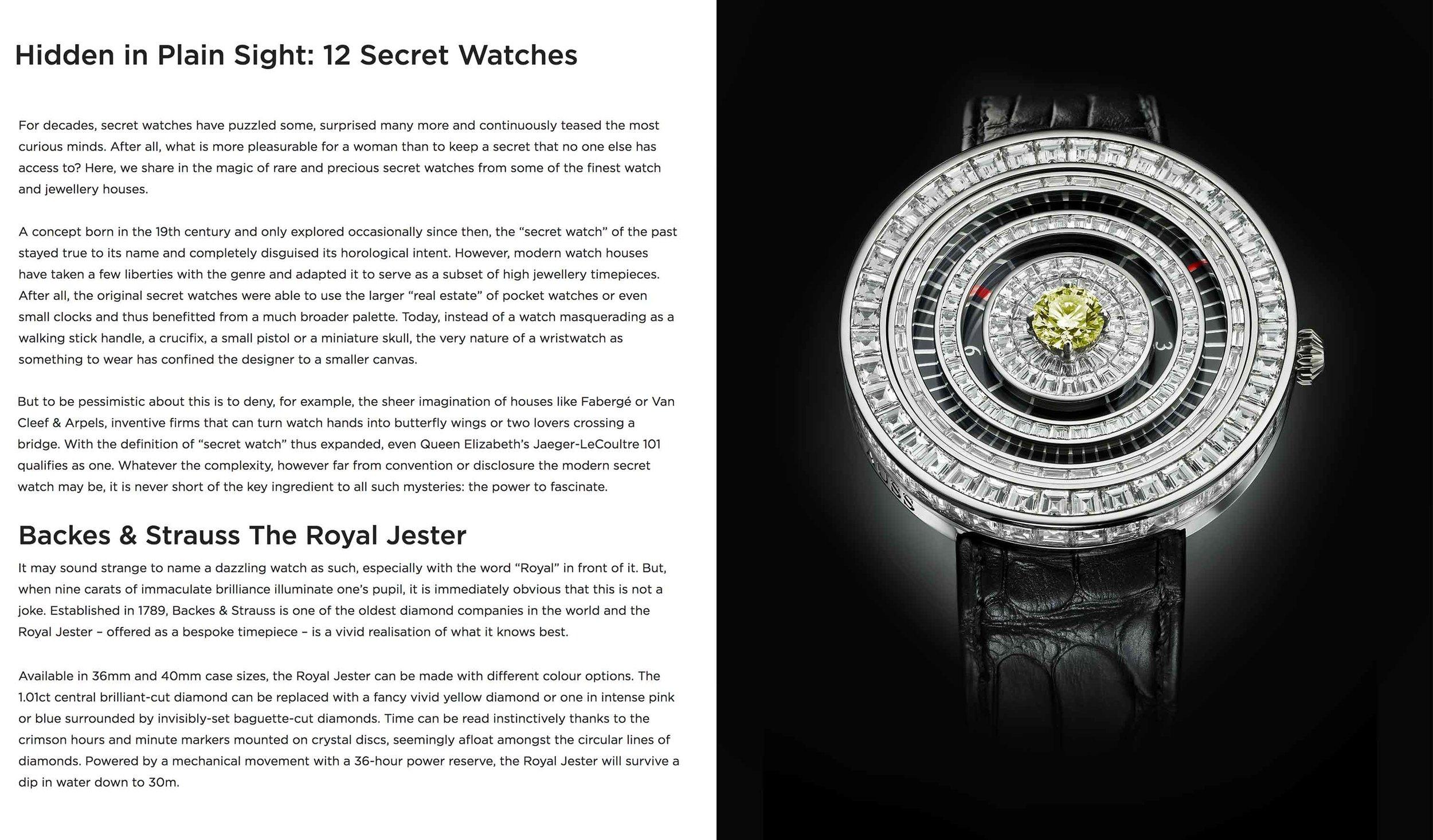 Backes & Strauss Royal Jester diamond encrusted watch