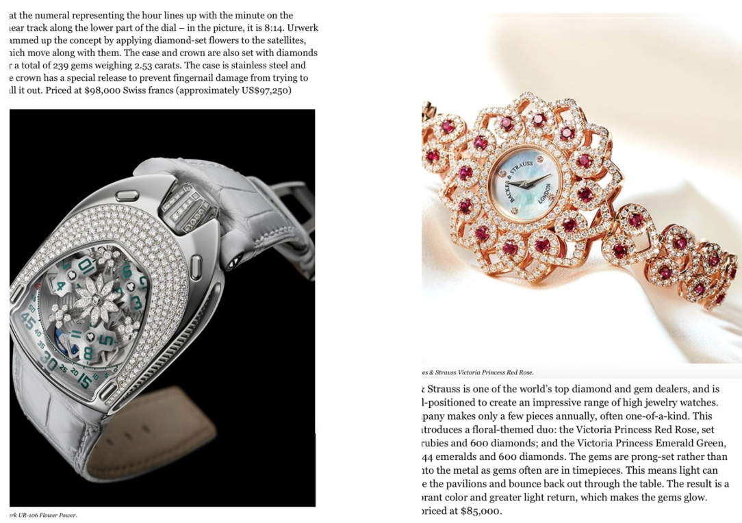Backes & Strauss featuring Victoria Princess diamond watch