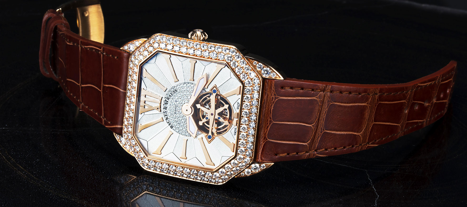 Berkeley Renaissance Duke Tourbillon diamond watch for him