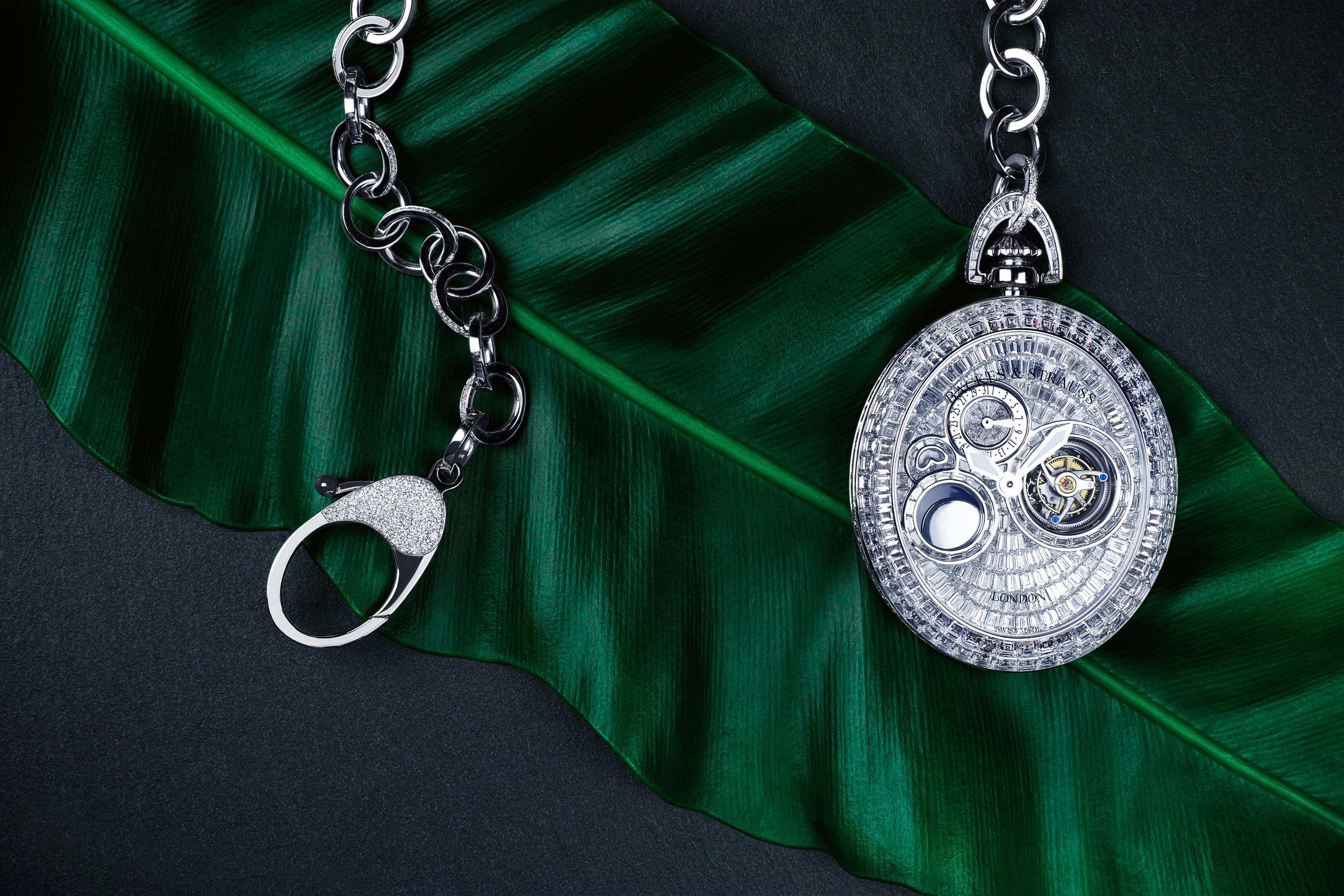 Regent Beau Brummell Tourbillon high end diamond pocket watch