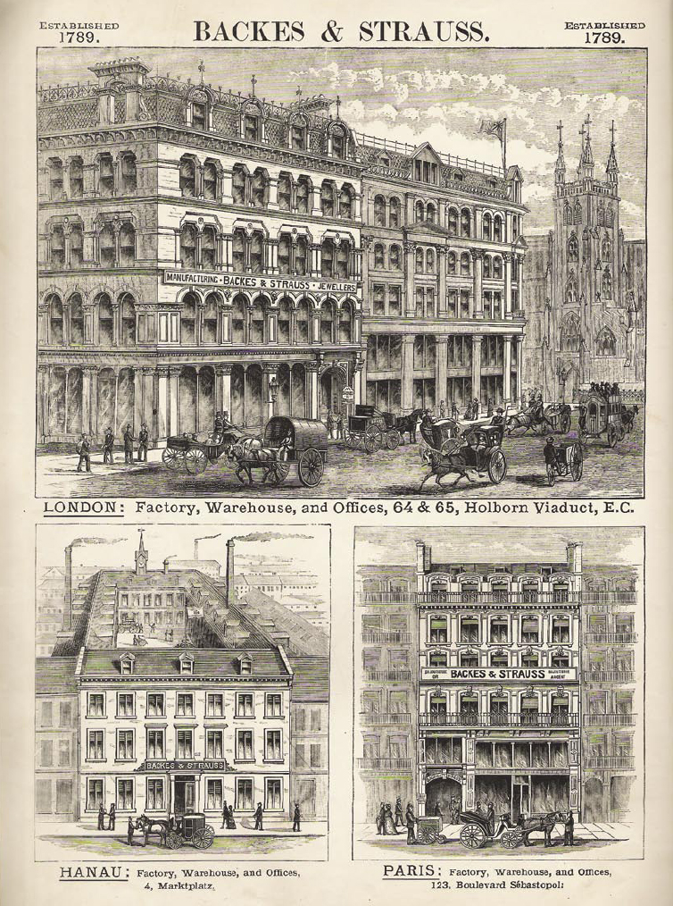 Backes & Strauss London, Hanau and Paris offices