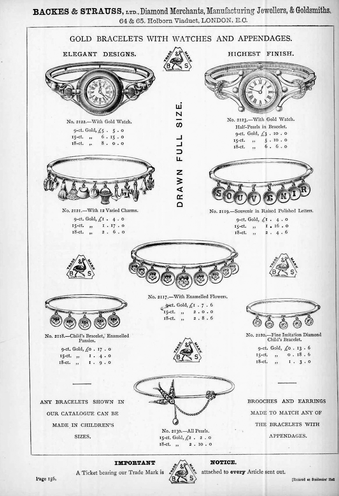 Backes & Strauss Jewellery Gold Watch Catalogue