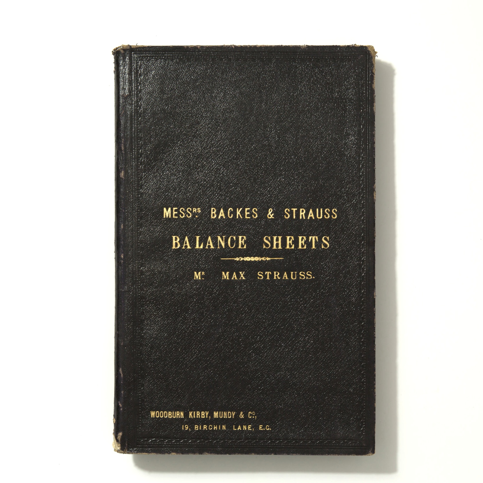 Backes & Strauss Balance Sheets by Max Strauss