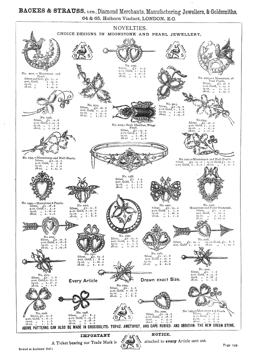 Backes & Strauss old jewellery catalogue