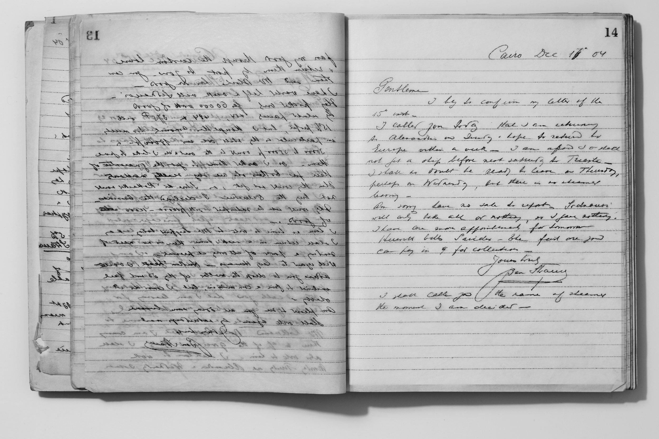 Egyptian Correspondence, Cairo, December, 1904