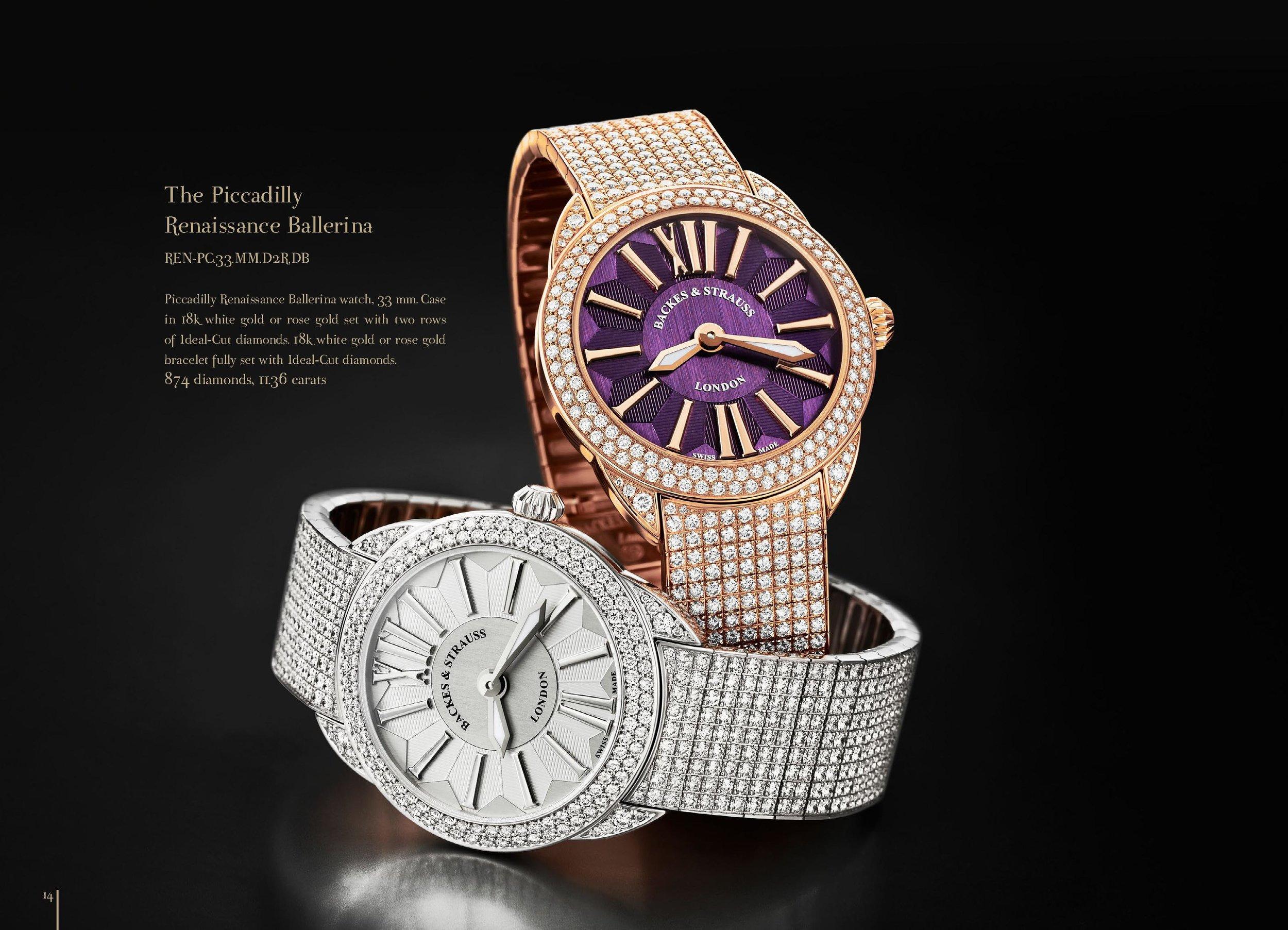 Piccadilly Renaissance Ballerina diamond watch