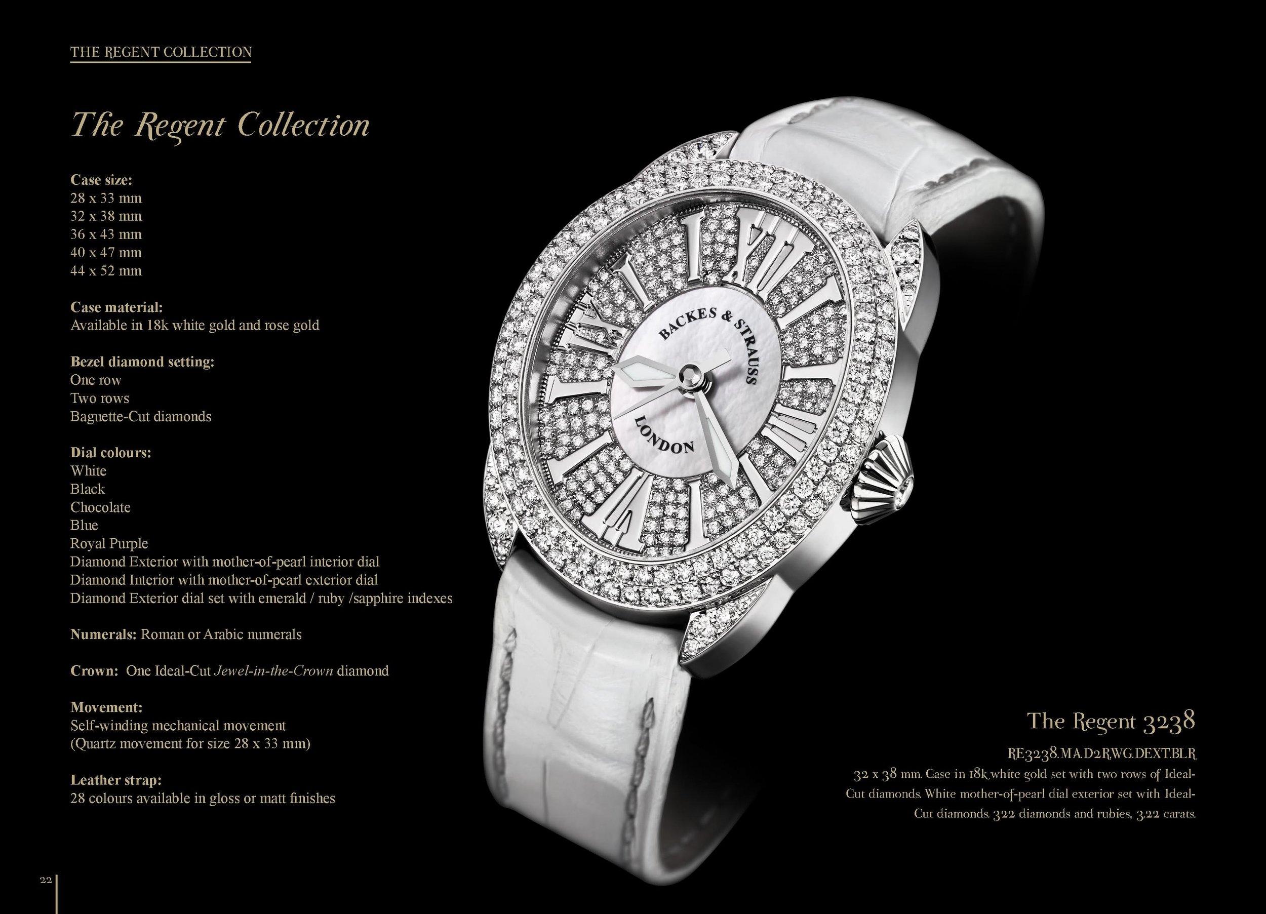 Regent 3238 diamond encrusted watch