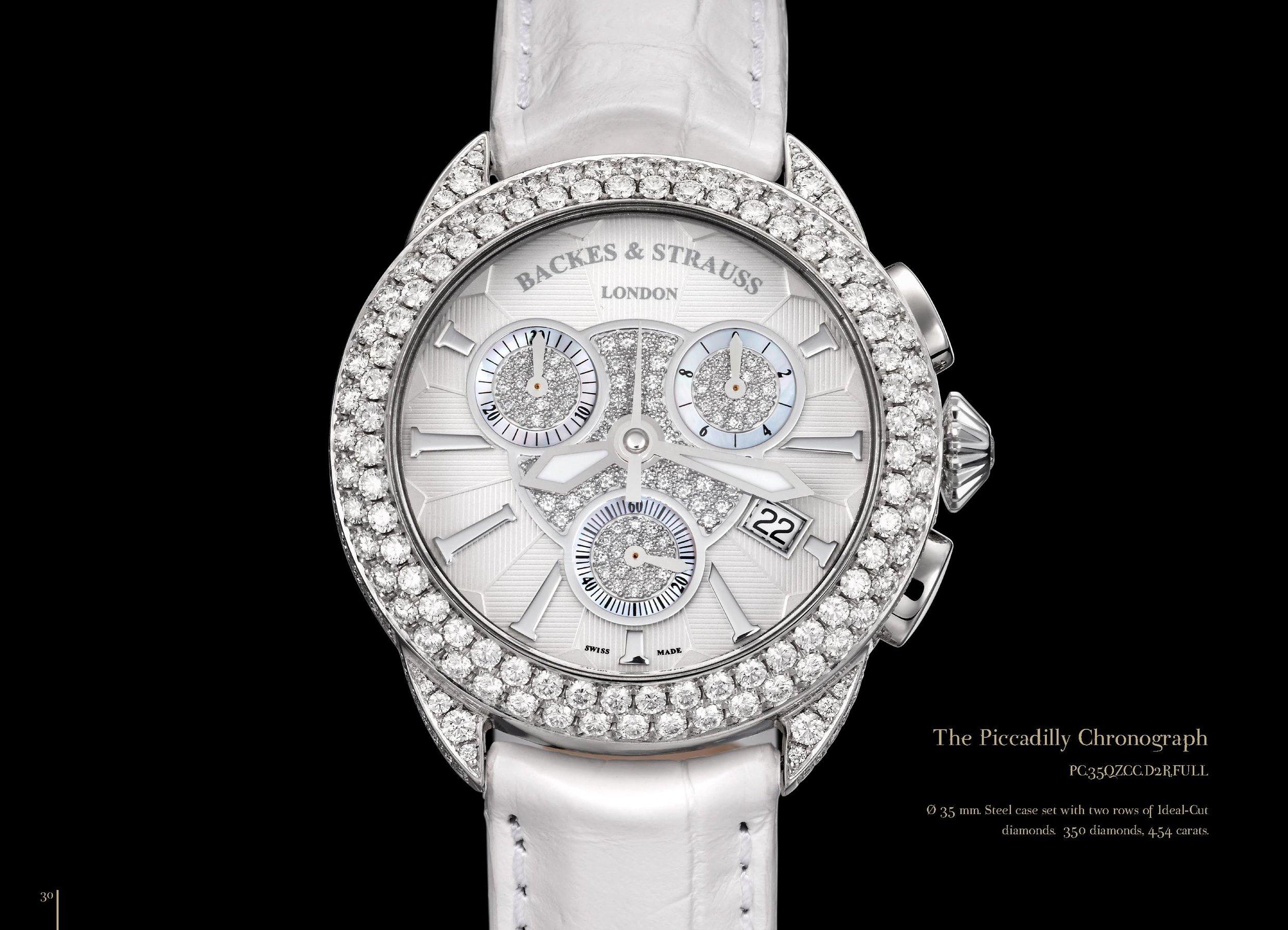 Piccadilly Chronograph 35 diamond watch