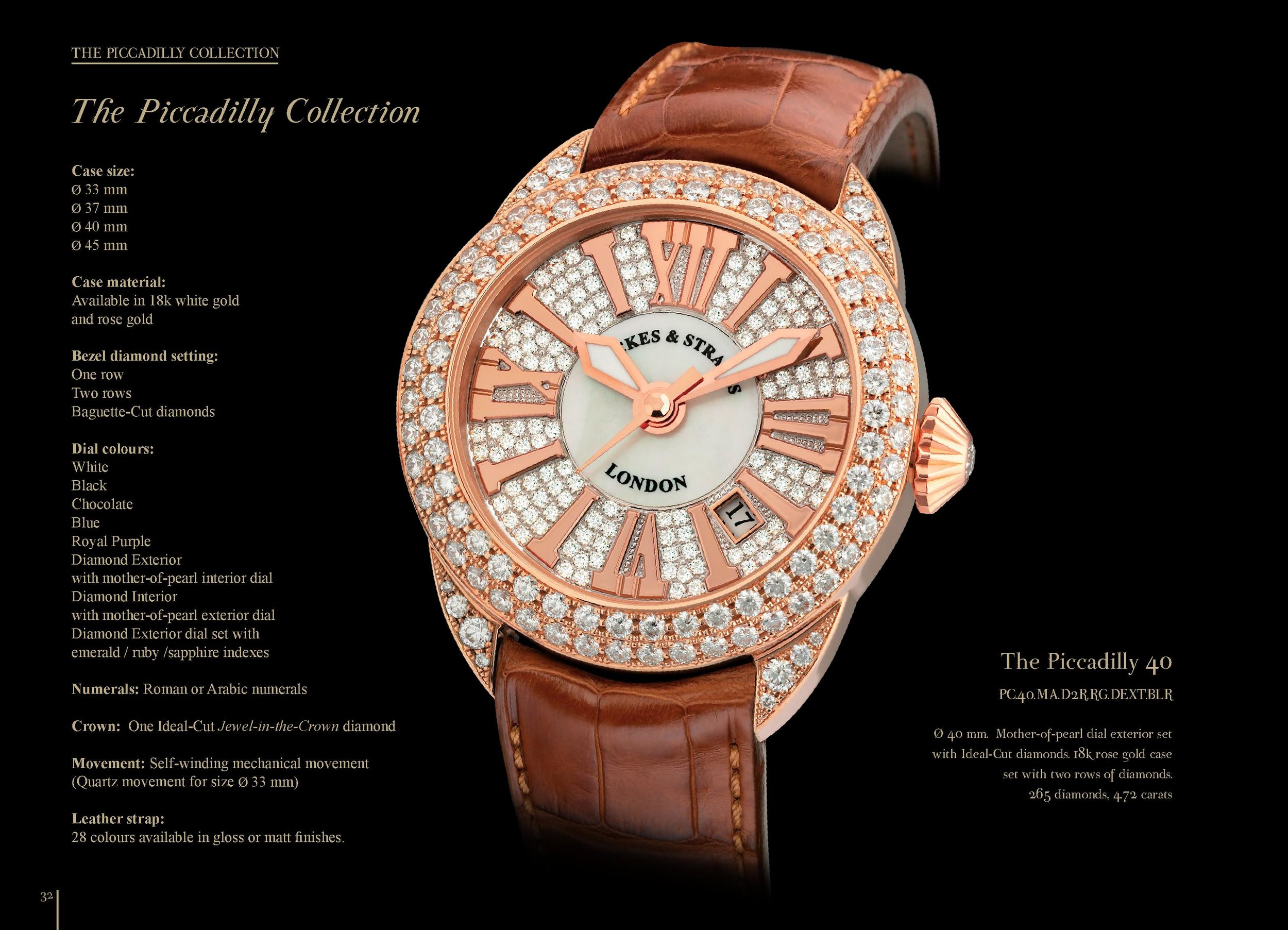Piccadilly 40 watch