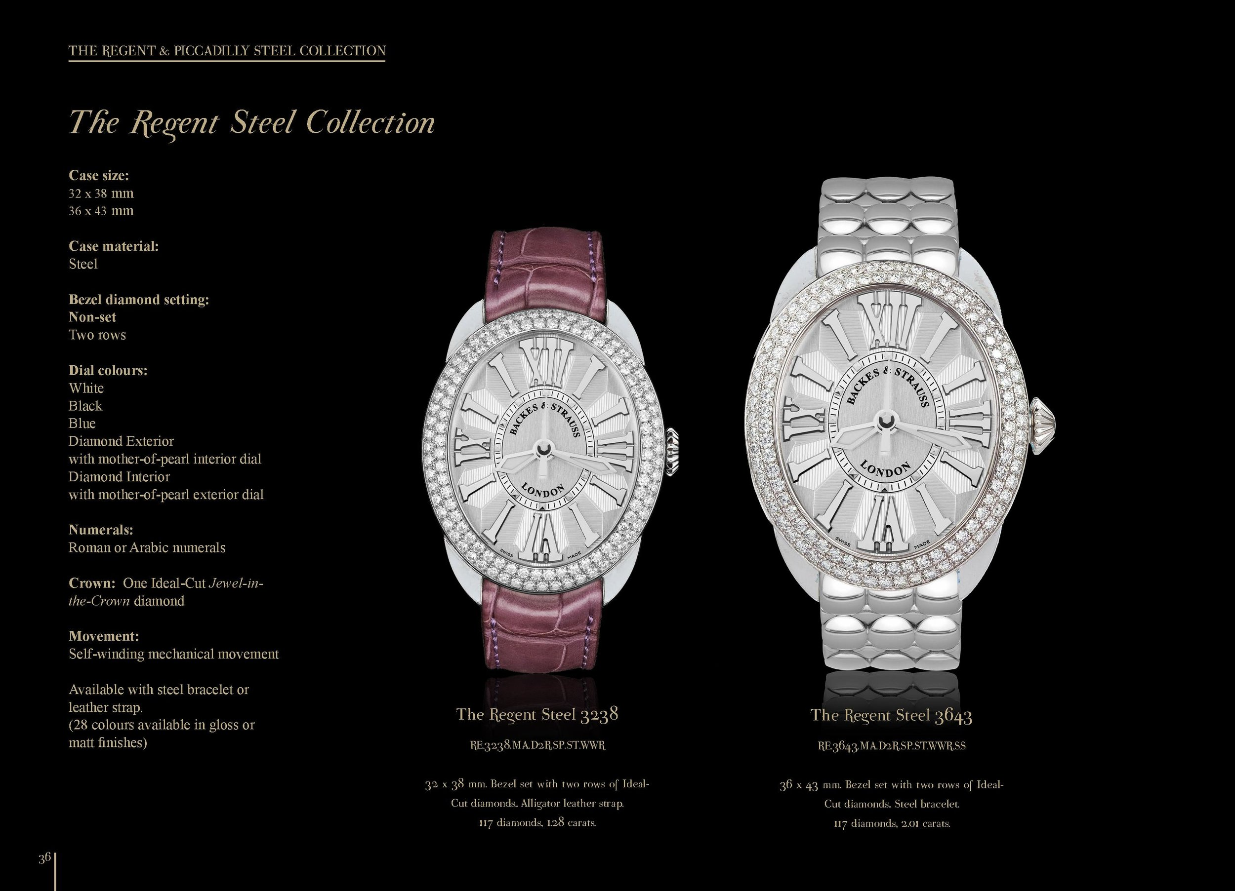 Regent Steel 3238 & 3643 watch