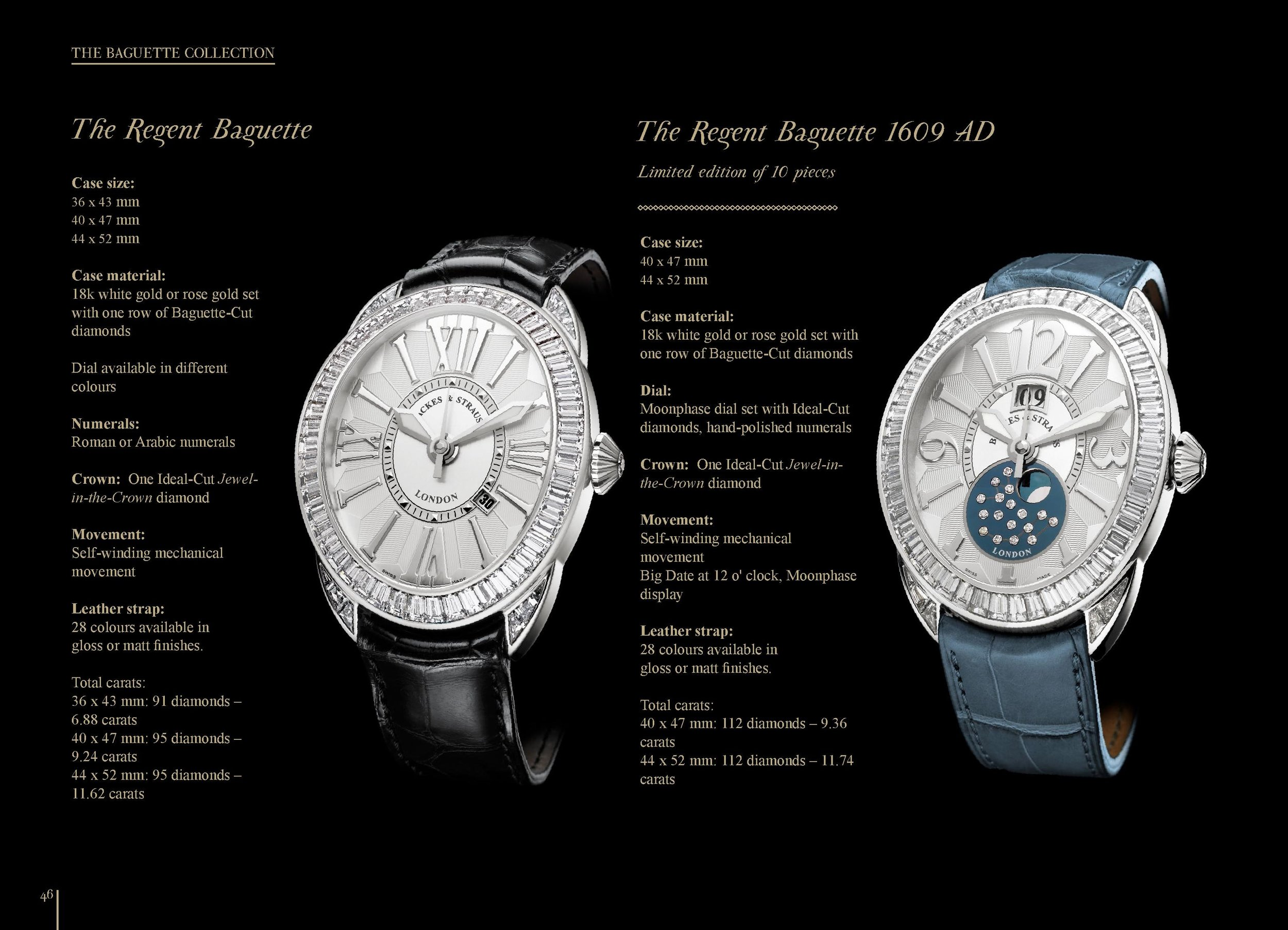 Regent Baguette 4047 and 1609 AD watch