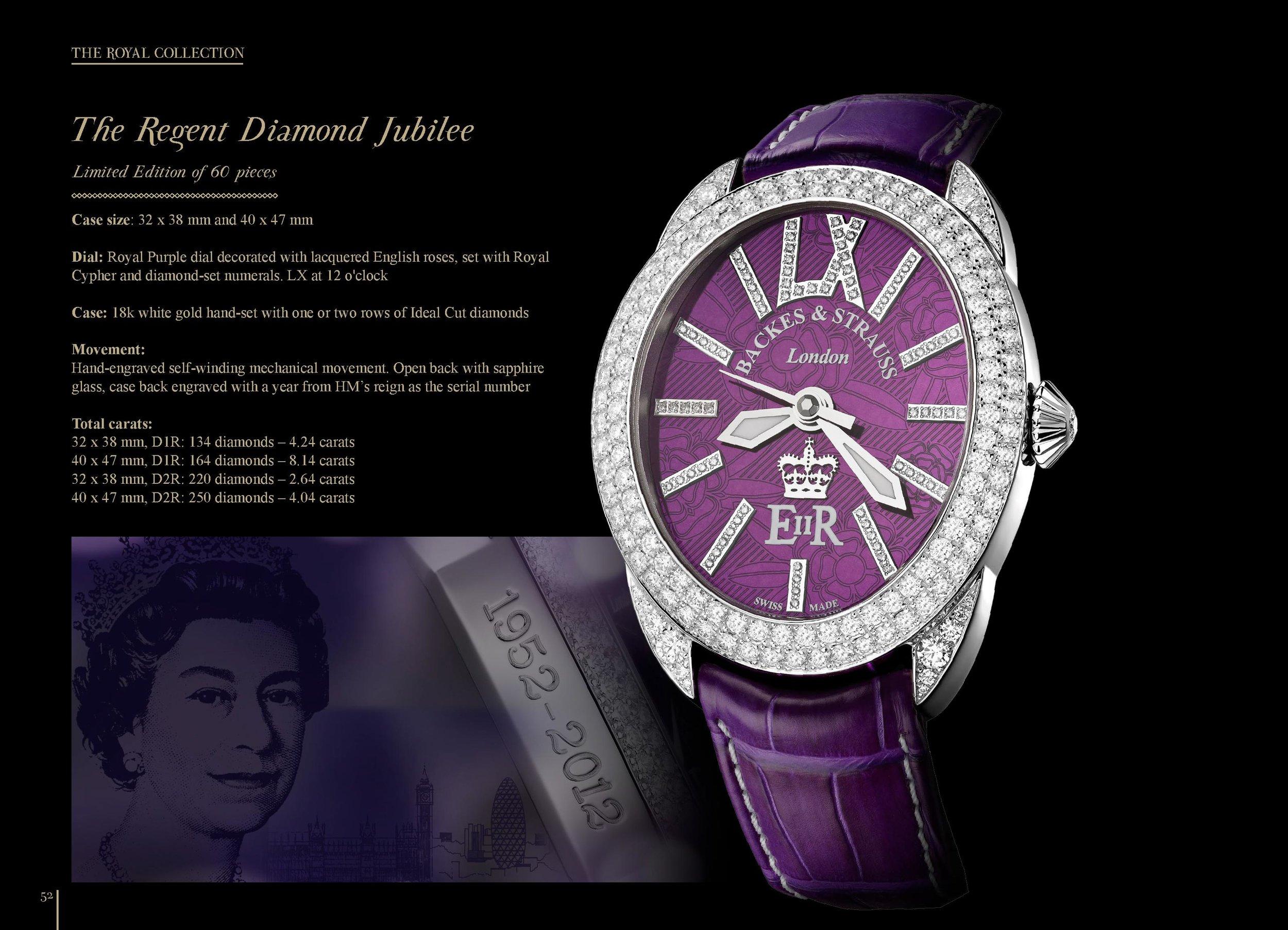 The Regent Diamond Jubilee watch