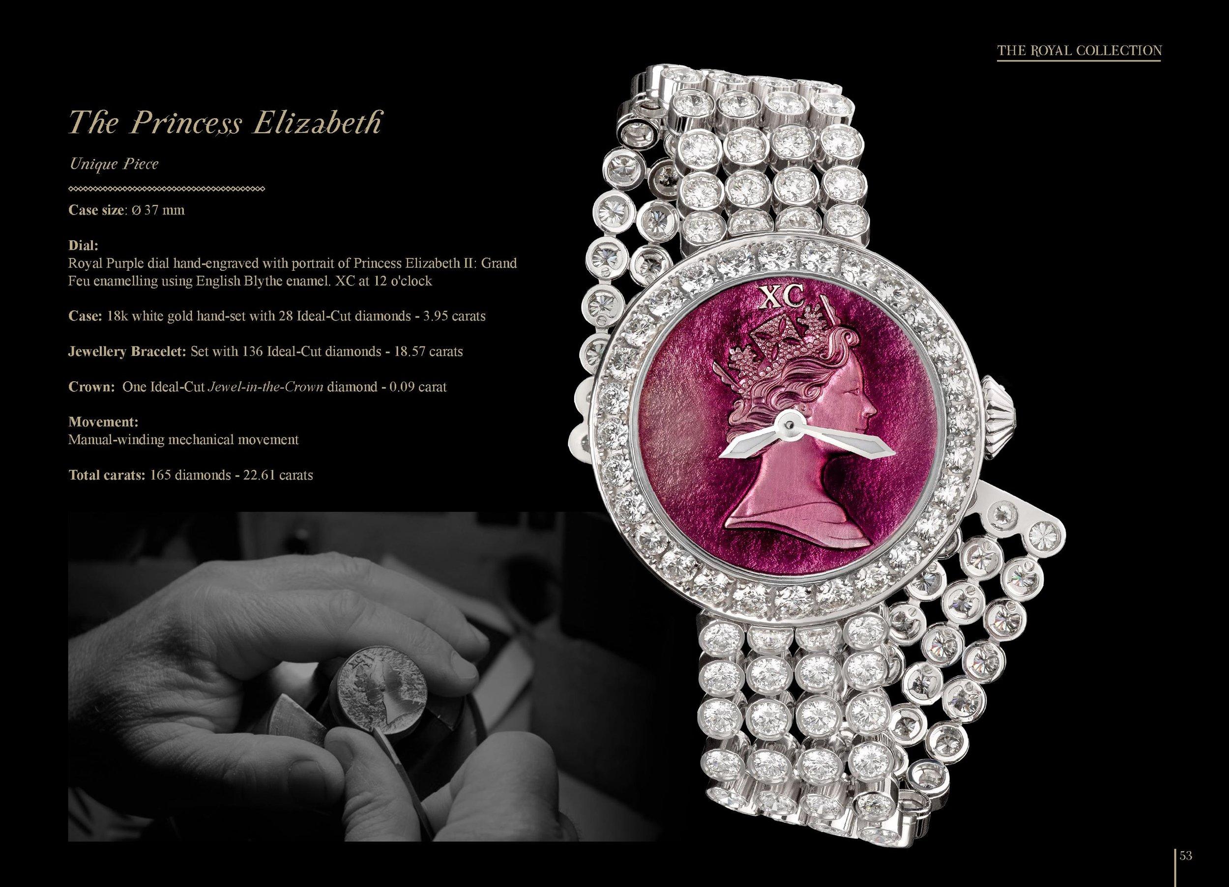 The Princess Elizabeth iconic diamond watch