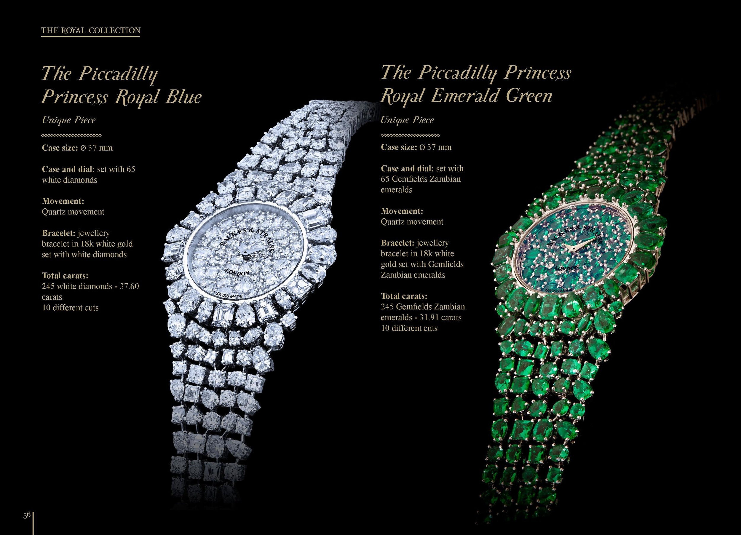 The Piccadilly Princess Royal Emerald Green and Blue masterpiece