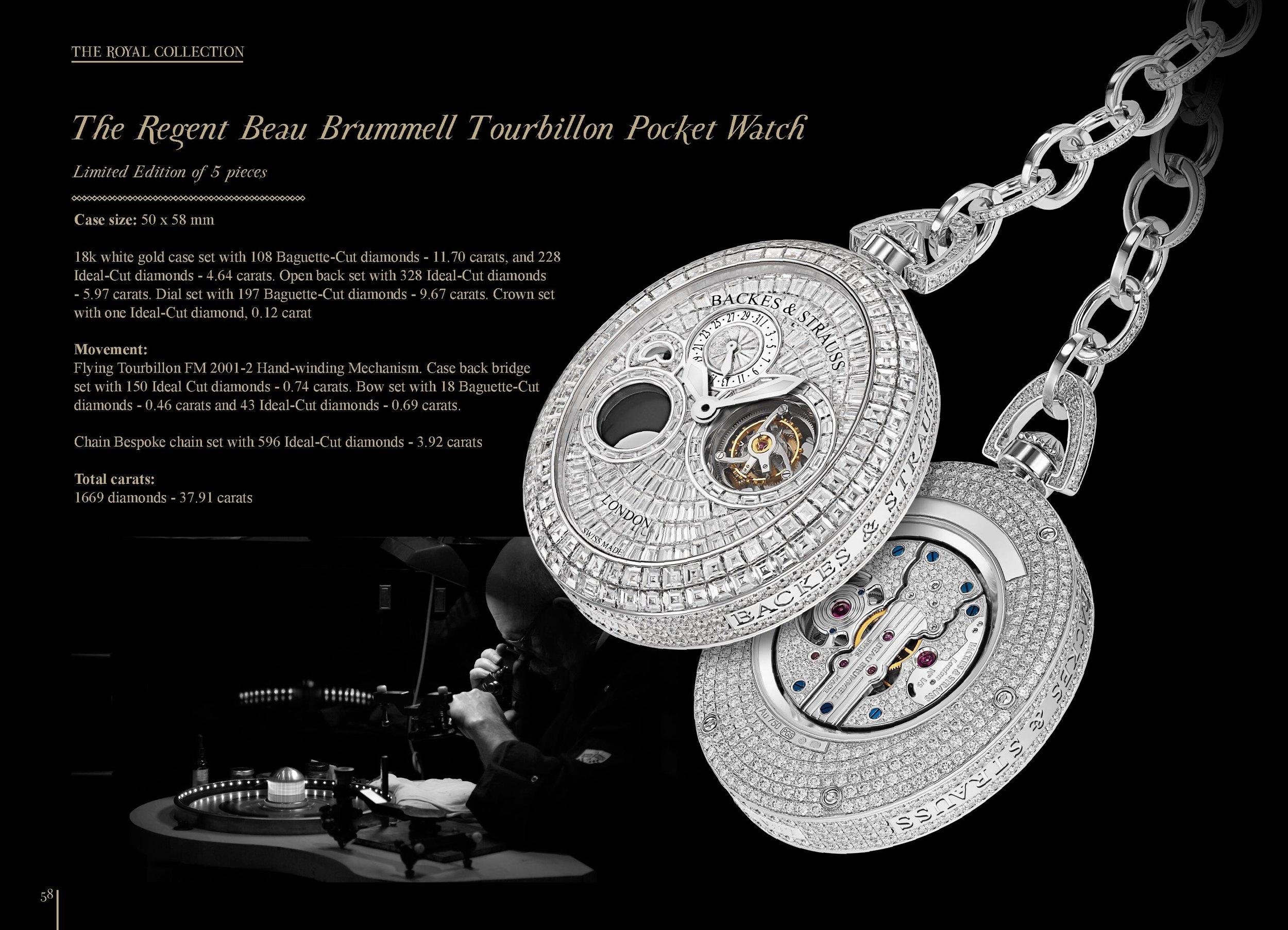 The Regent Beau Brummell Tourbillon iconic pocket watch