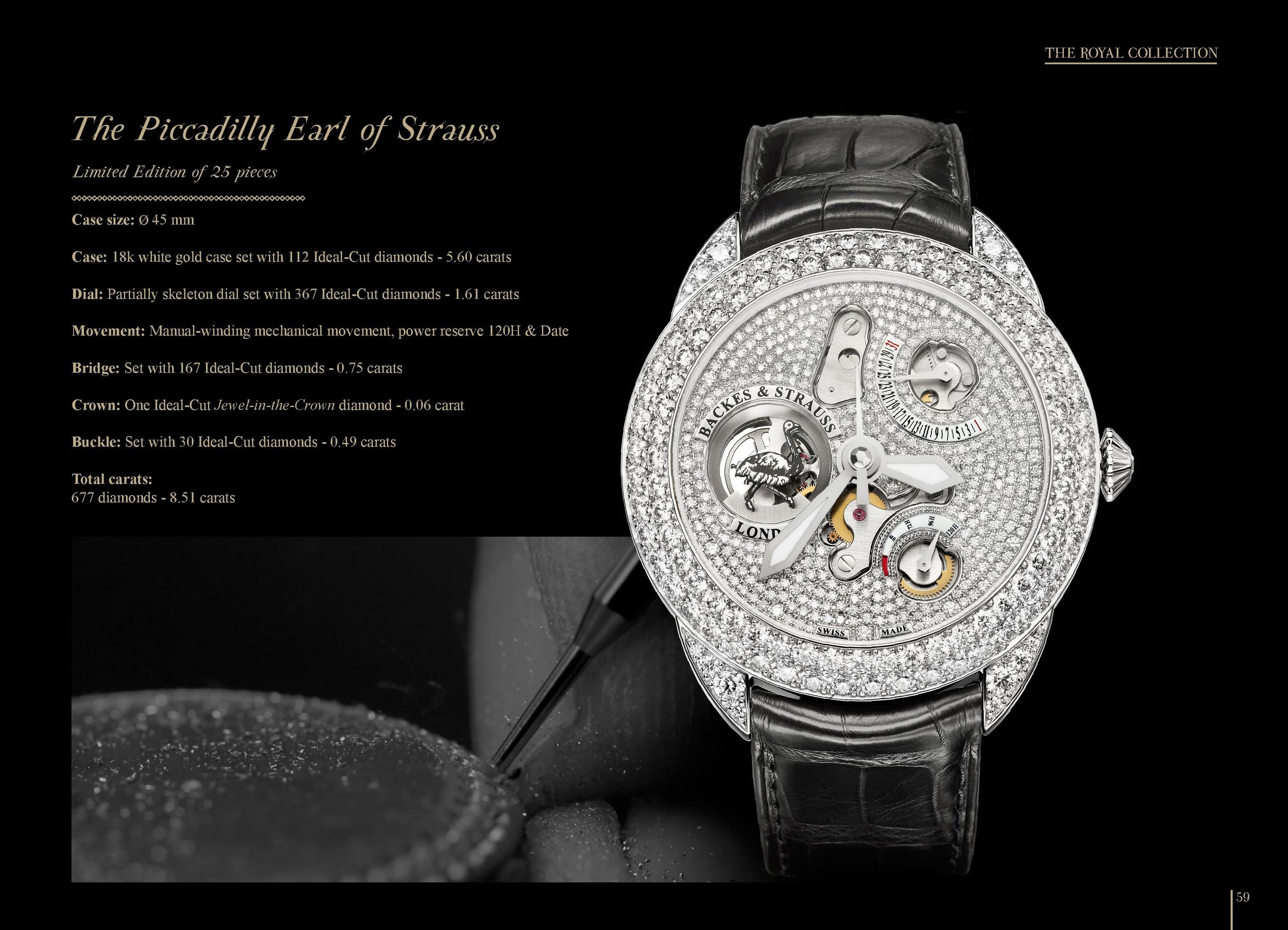The Piccadilly Earl of Strauss limited edition watch