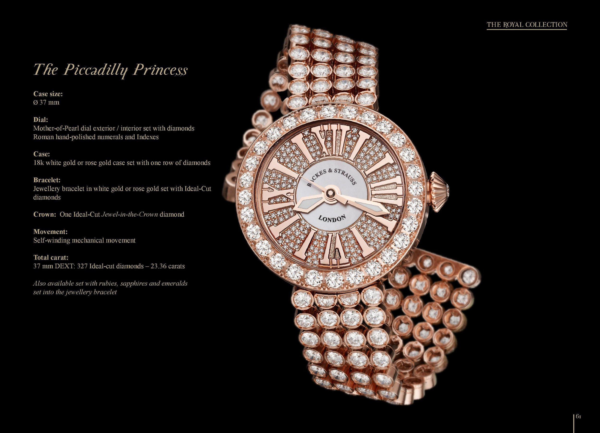 The Piccadilly Princess watch
