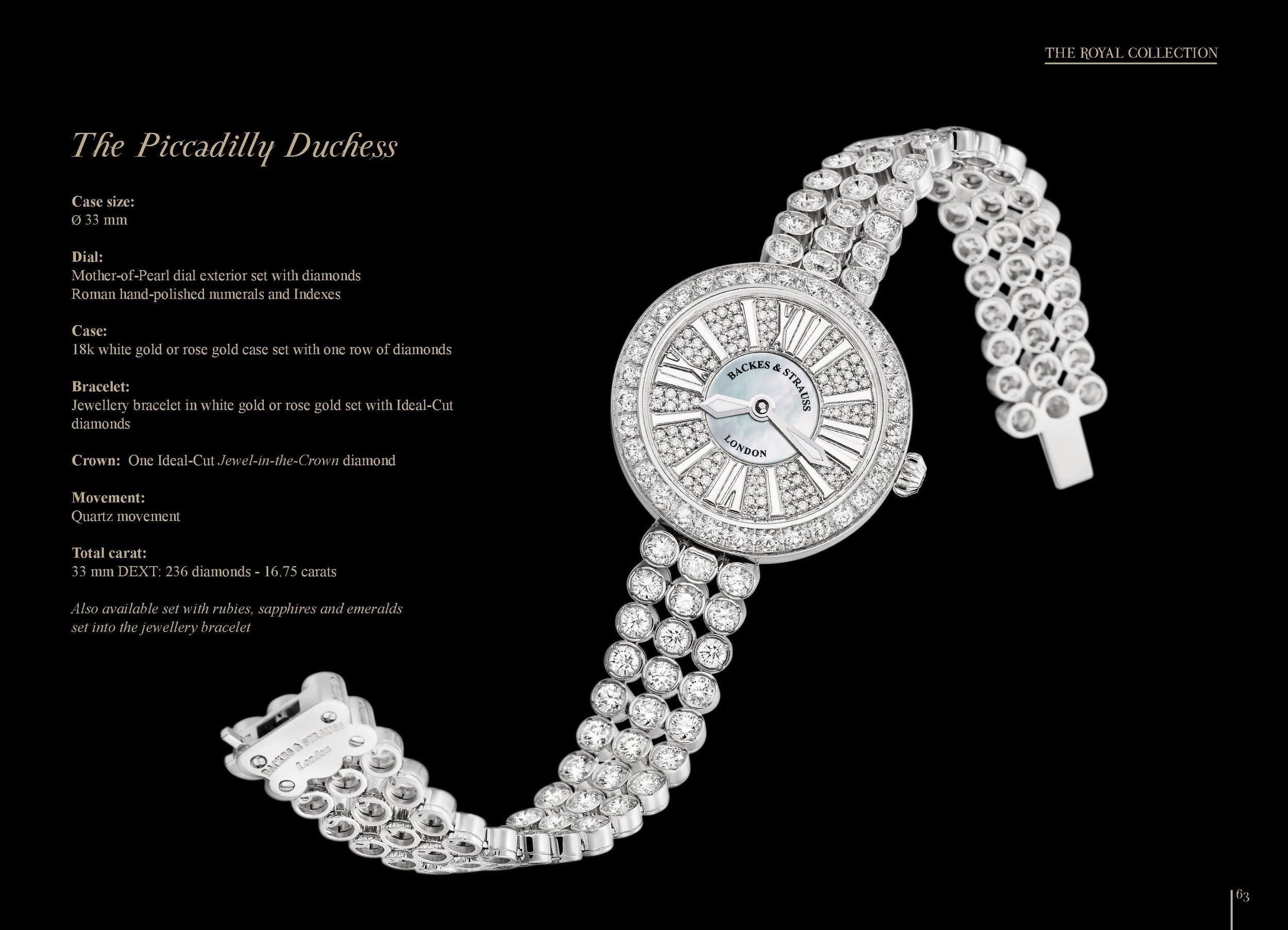 The Piccadilly Duchess iconic watch