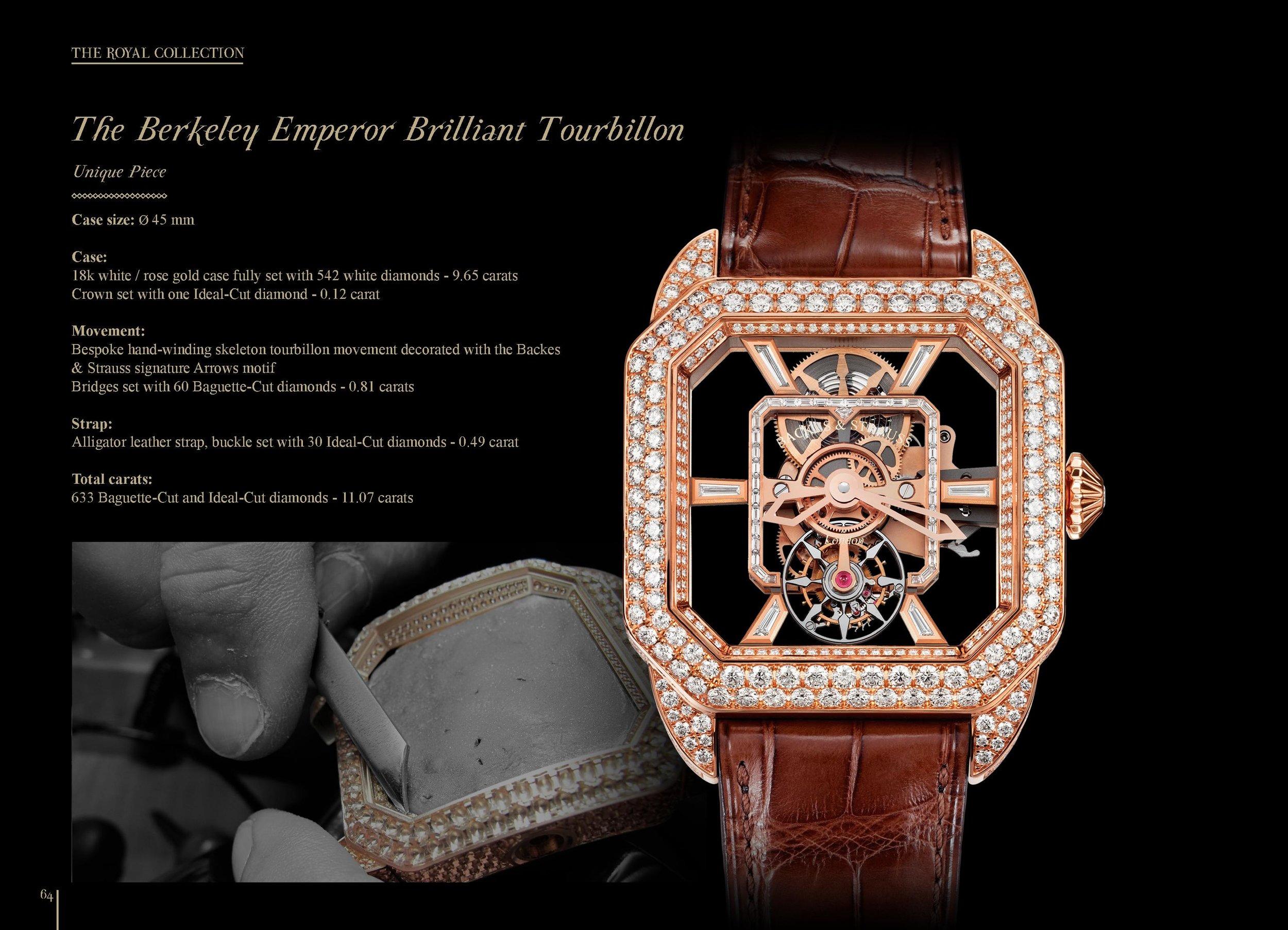 The Berkeley Emperor Brilliant Tourbillon 45 watch