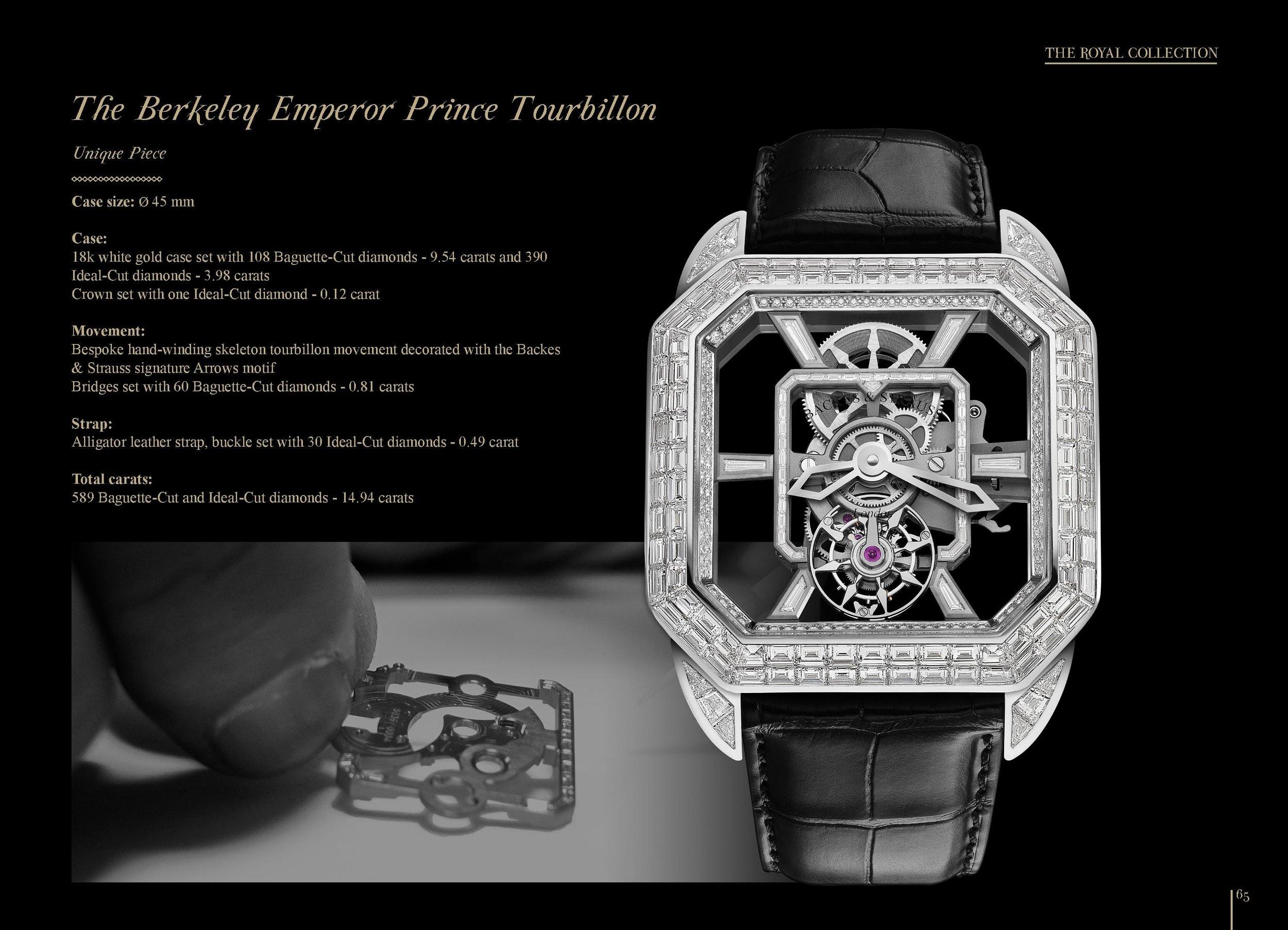 The Berkeley Emperor Prince Tourbillon 45 diamond watch