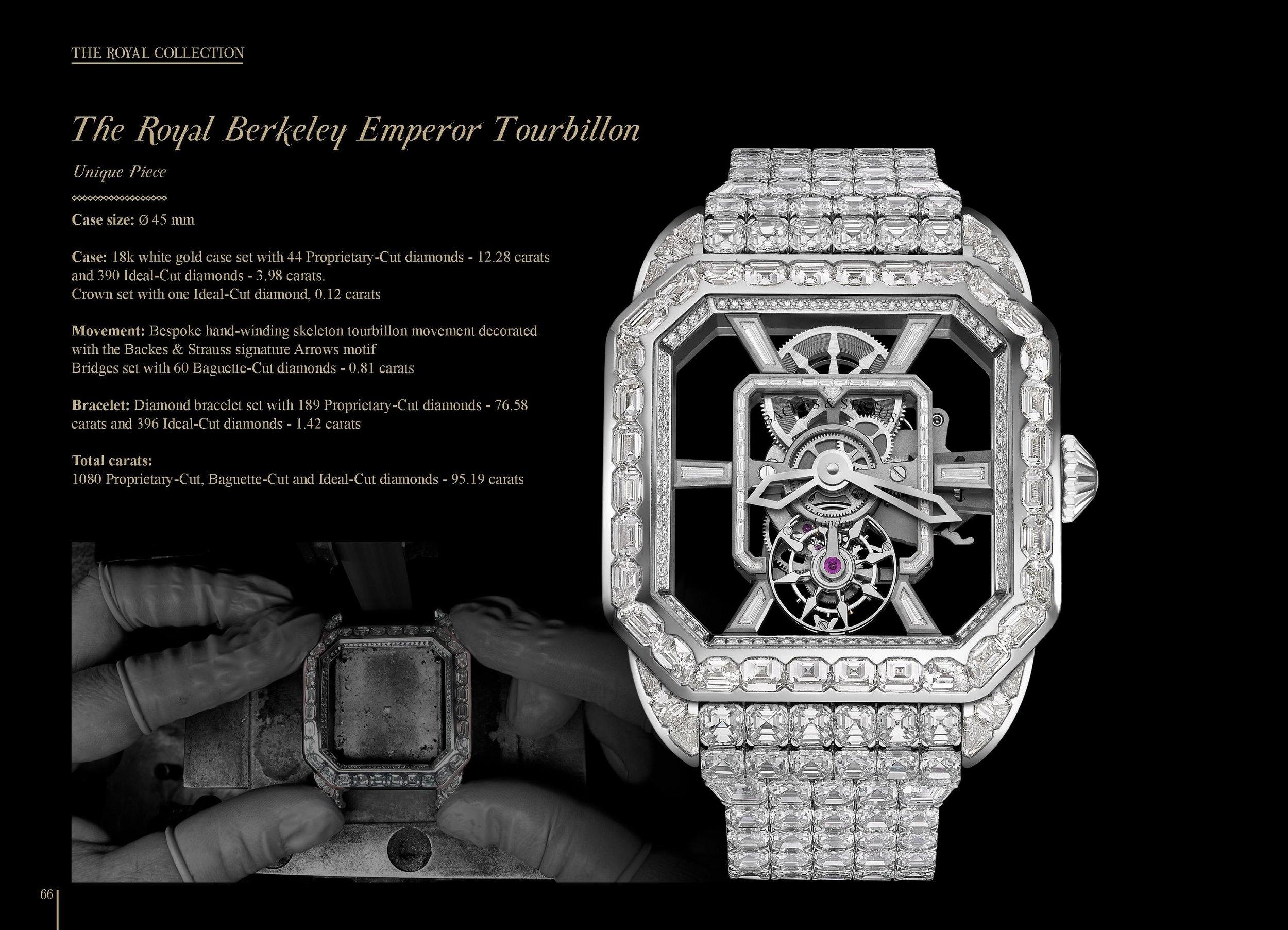 The Royal Berkeley Emperor Tourbillon 45 diamond encrusted watch