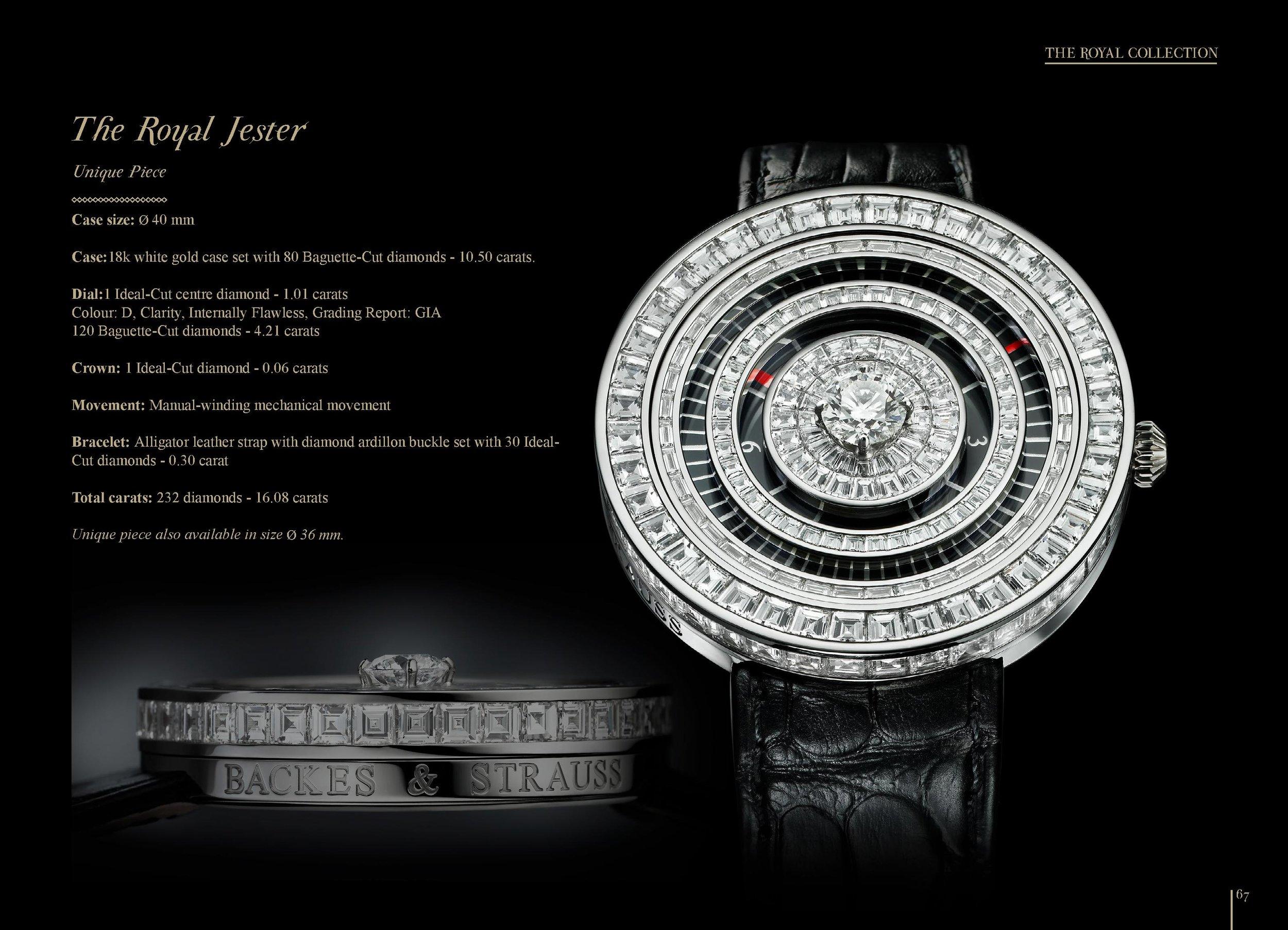 The Royal Jester diamond masterpiece