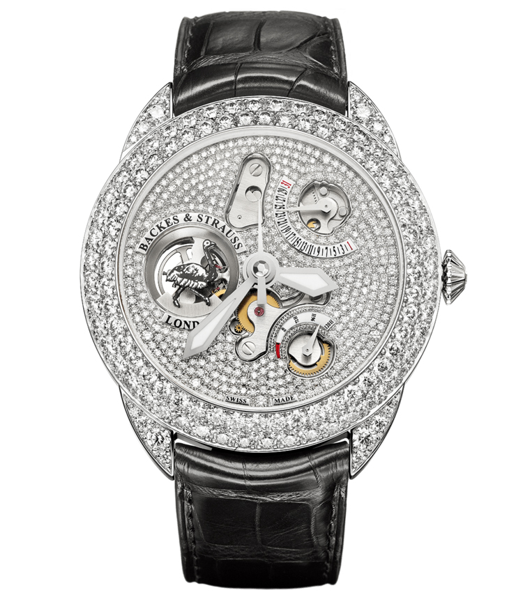 Earl of Strauss 45 limited edition diamond encrusted watch
