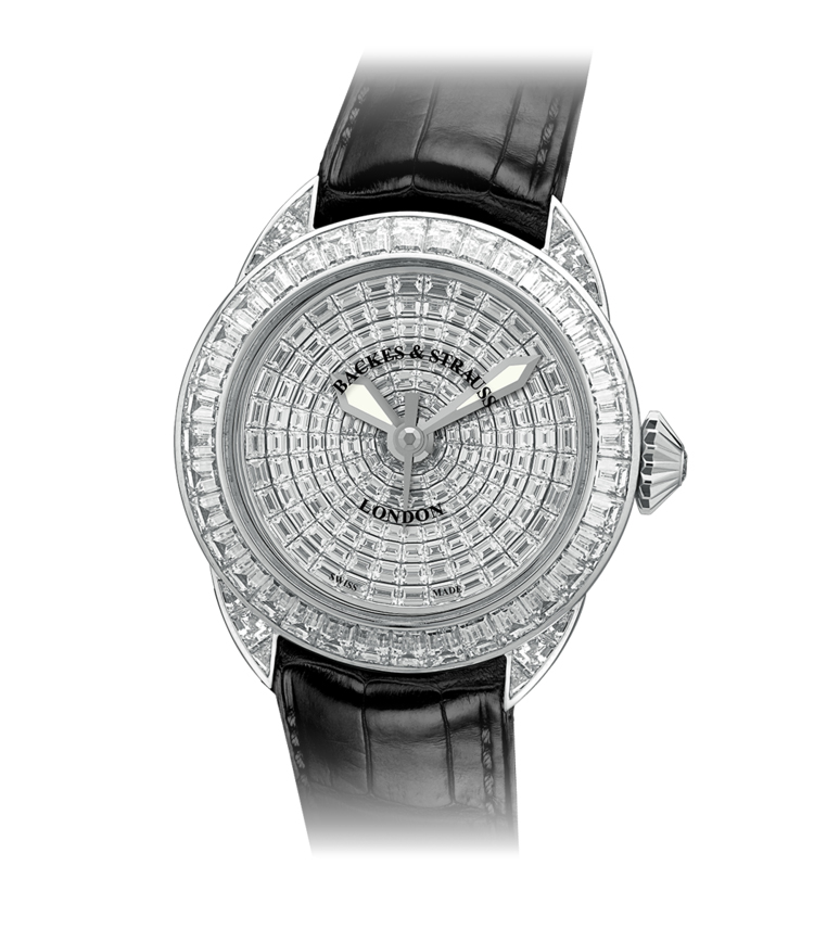 Piccadilly Prince 40 Baguette diamond watch for him and her