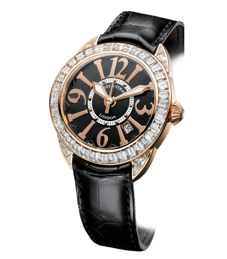 Piccadilly Baguette watch diamond set case for women and men