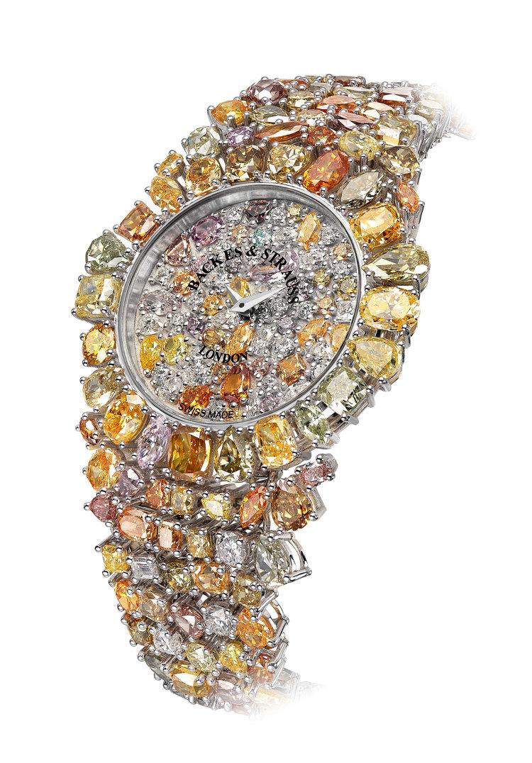 Piccadilly Princess Royal Colours diamond watch side-shot