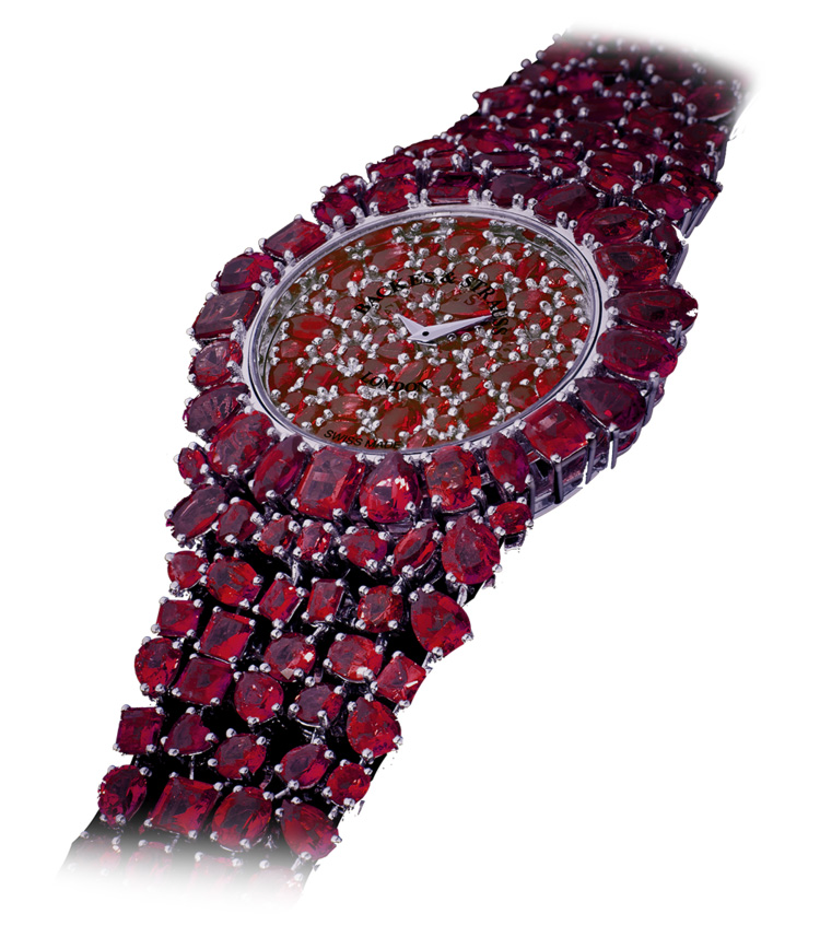 Piccadilly Princess Royal Red Rose diamond watch