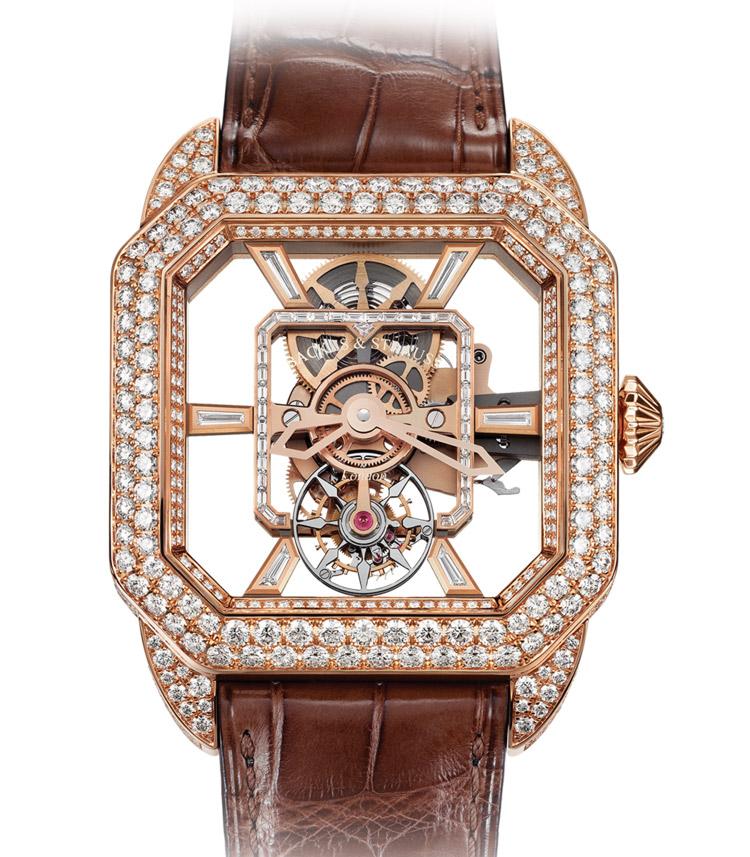 Berkeley Emperor Brilliant Tourbillon luxury diamond set case watch