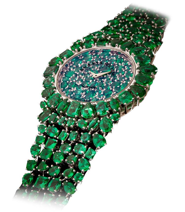 Piccadilly Princess Royal Emerald Green luxury diamond watch
