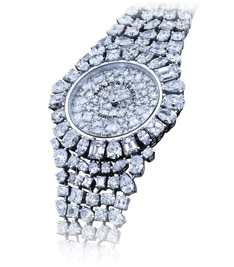 Piccadilly Princess Royal Blue luxury diamond watch
