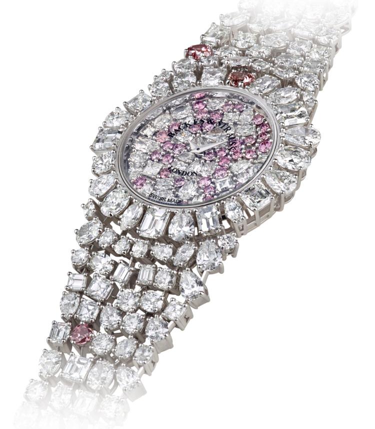 Piccadilly Princess Royal Pink Heart luxury diamond watch