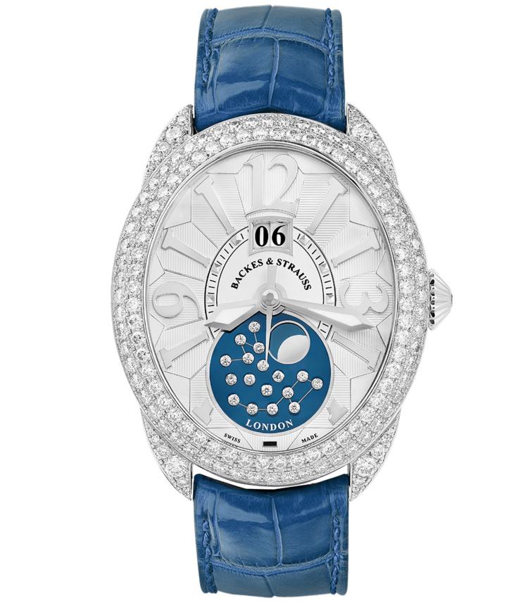 Regent 1609 AD 4047 moon phase watch