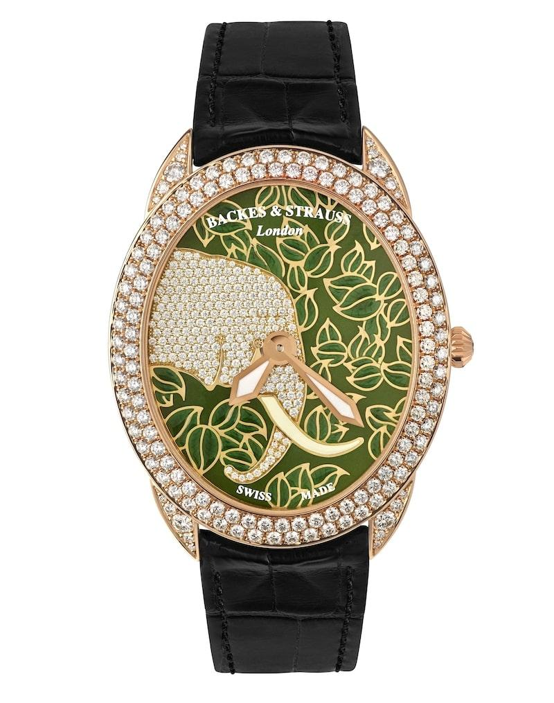 Tears of African Elephant 4047 diamond case watch